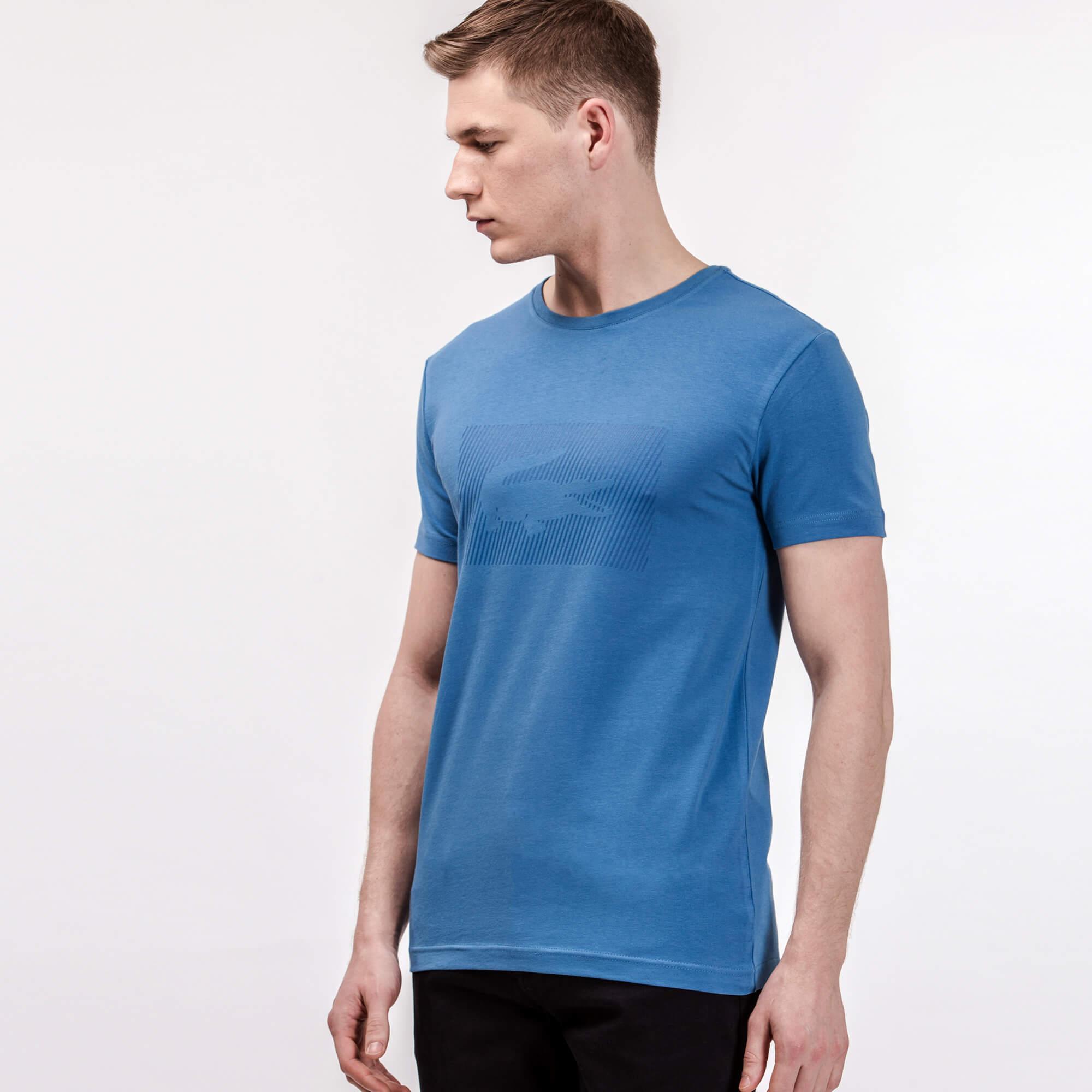 Lacoste Erkek Mavi Slim Fit Mavi T-Shirt