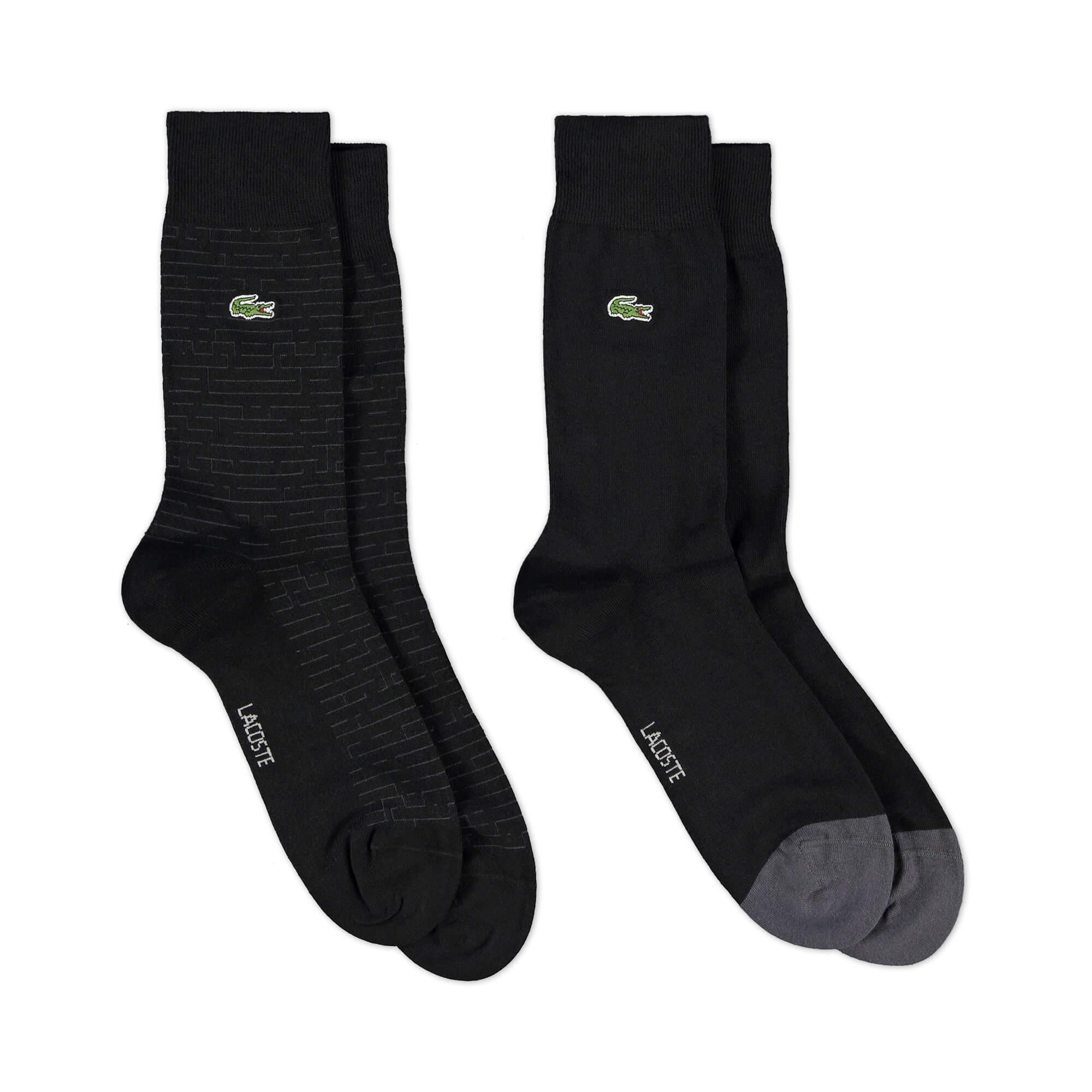 Lacoste Erkek 2'li Siyah Çorap