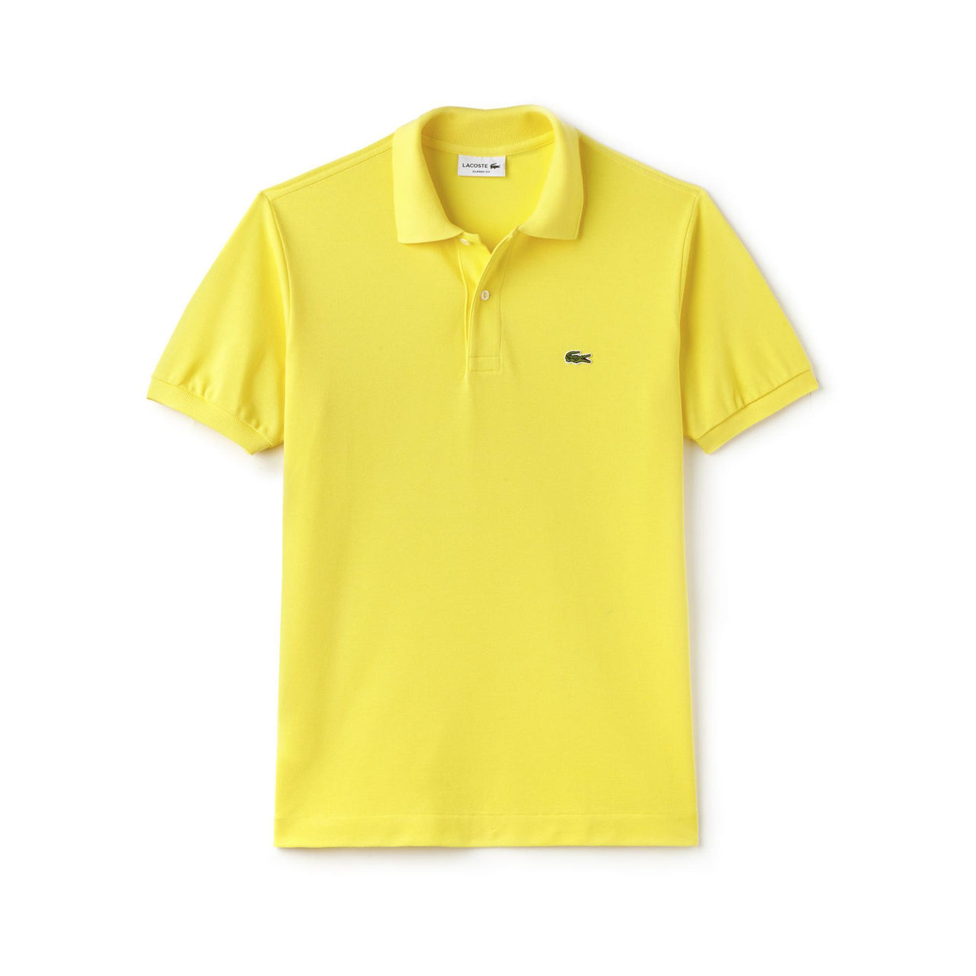 Lacoste Erkek Classic Fit Sarı Polo