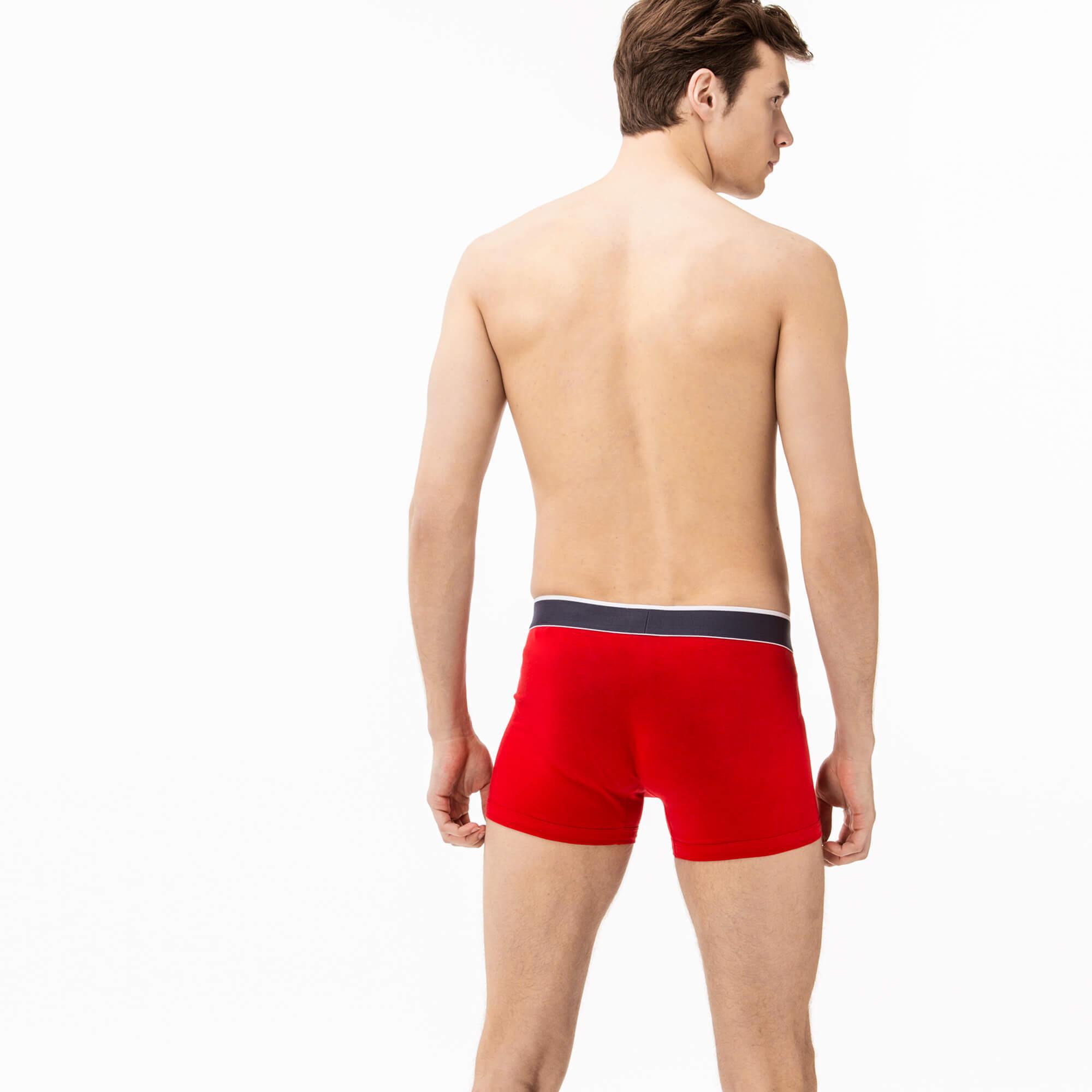 Lacoste Erkek 3'lü Renkli Boxer
