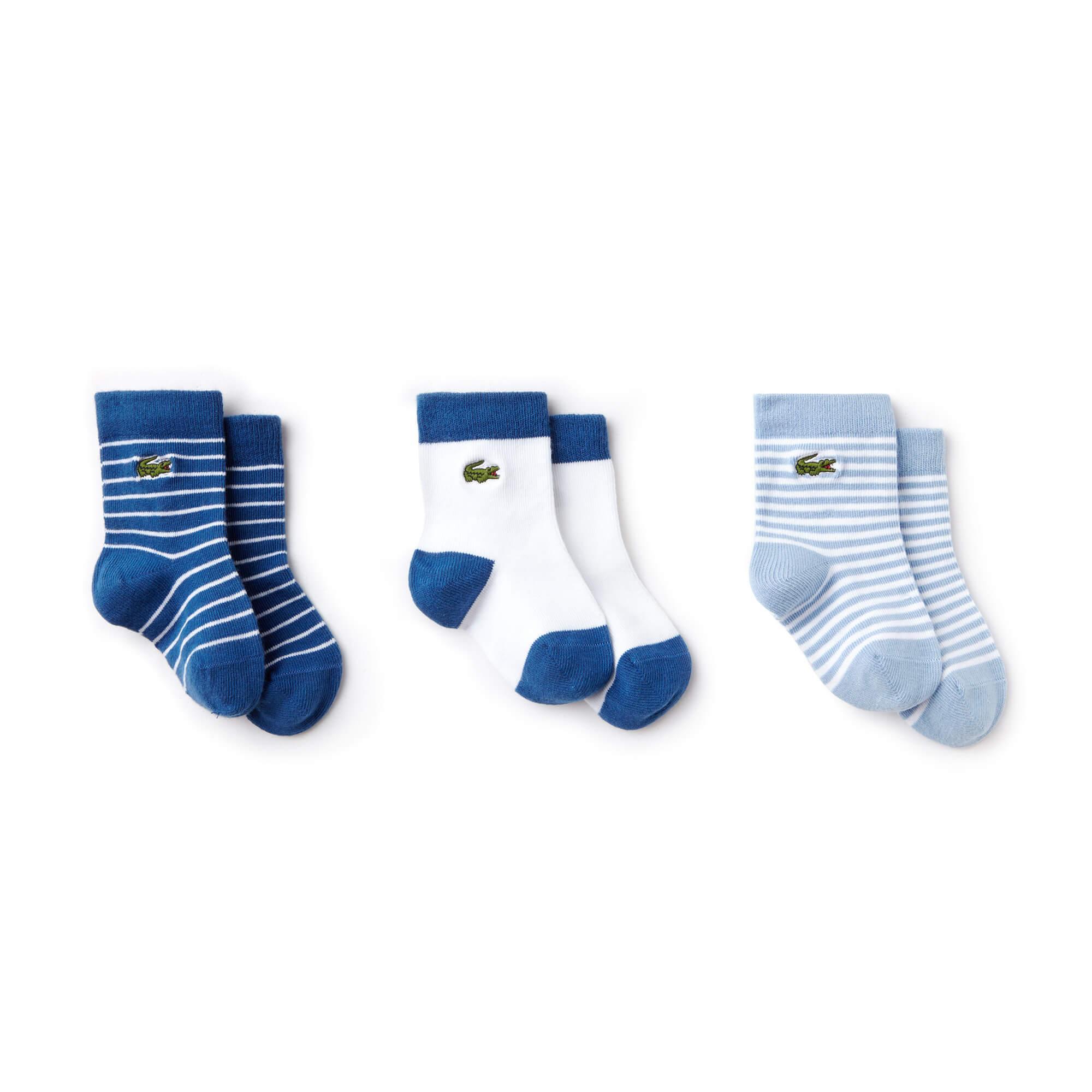 Lacoste Bebek 3'lü Lacivert Çorap