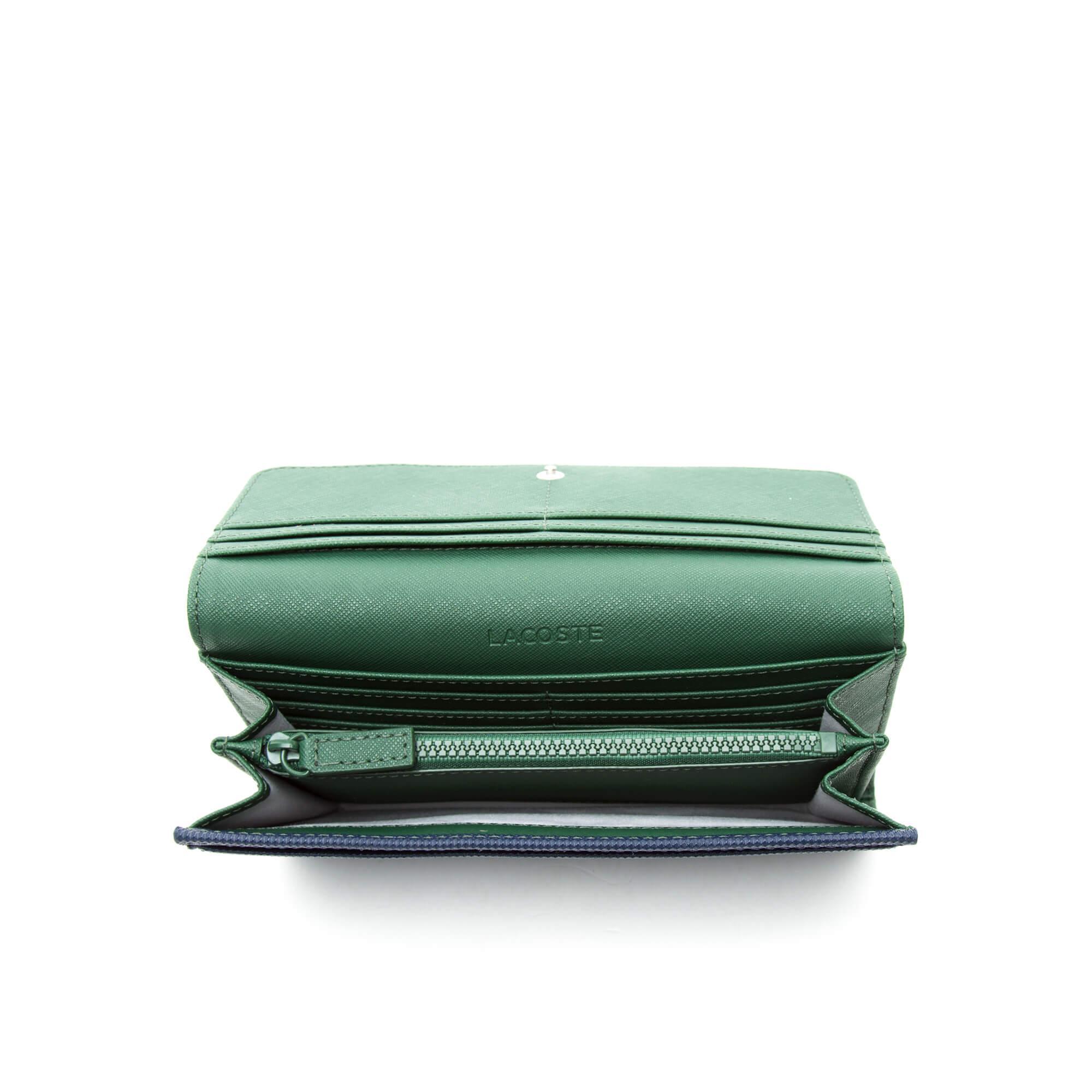 Lacoste Kadın Lacivert-Yeşil Cüzdan