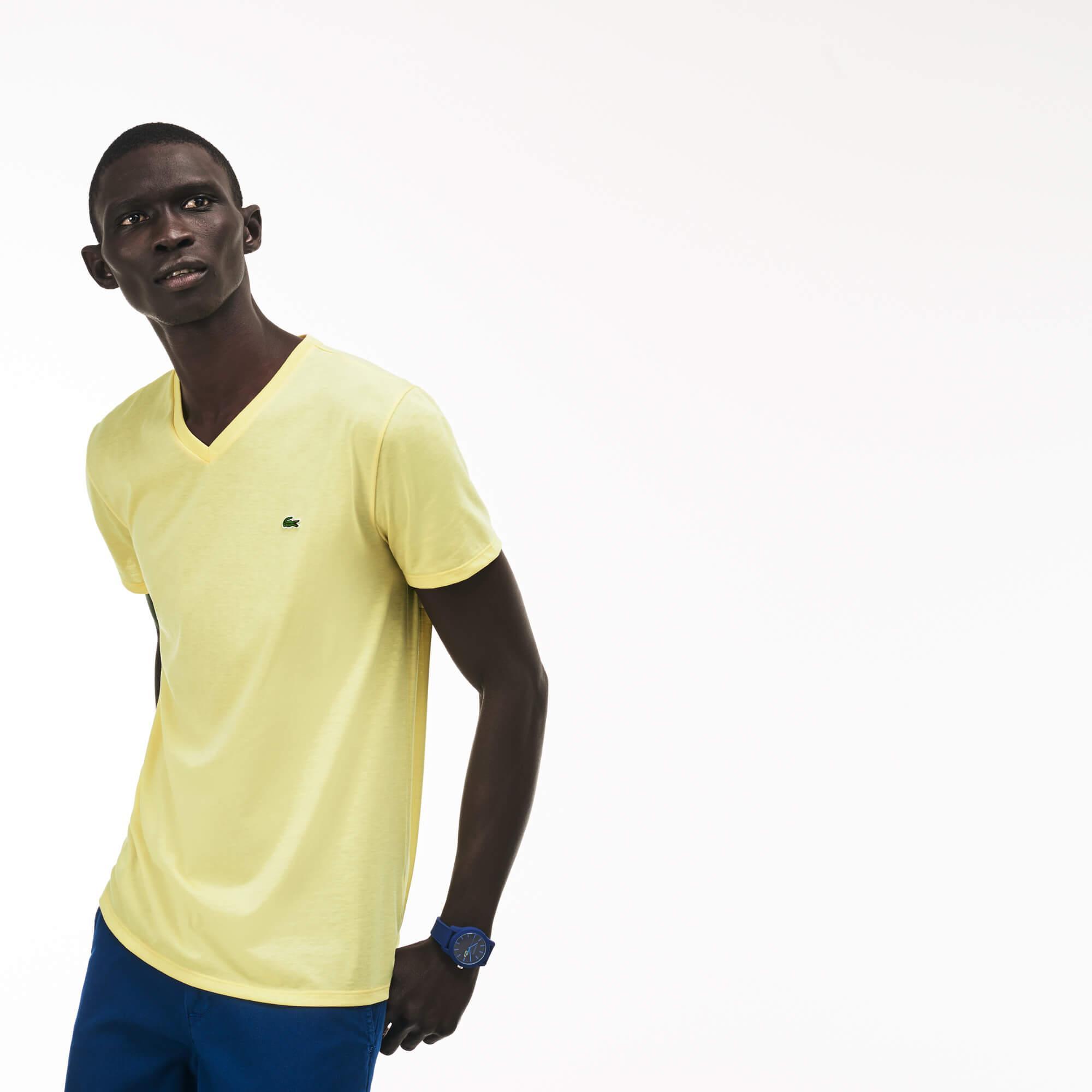 Lacoste Erkek Regular Fit Sarı T-Shirt