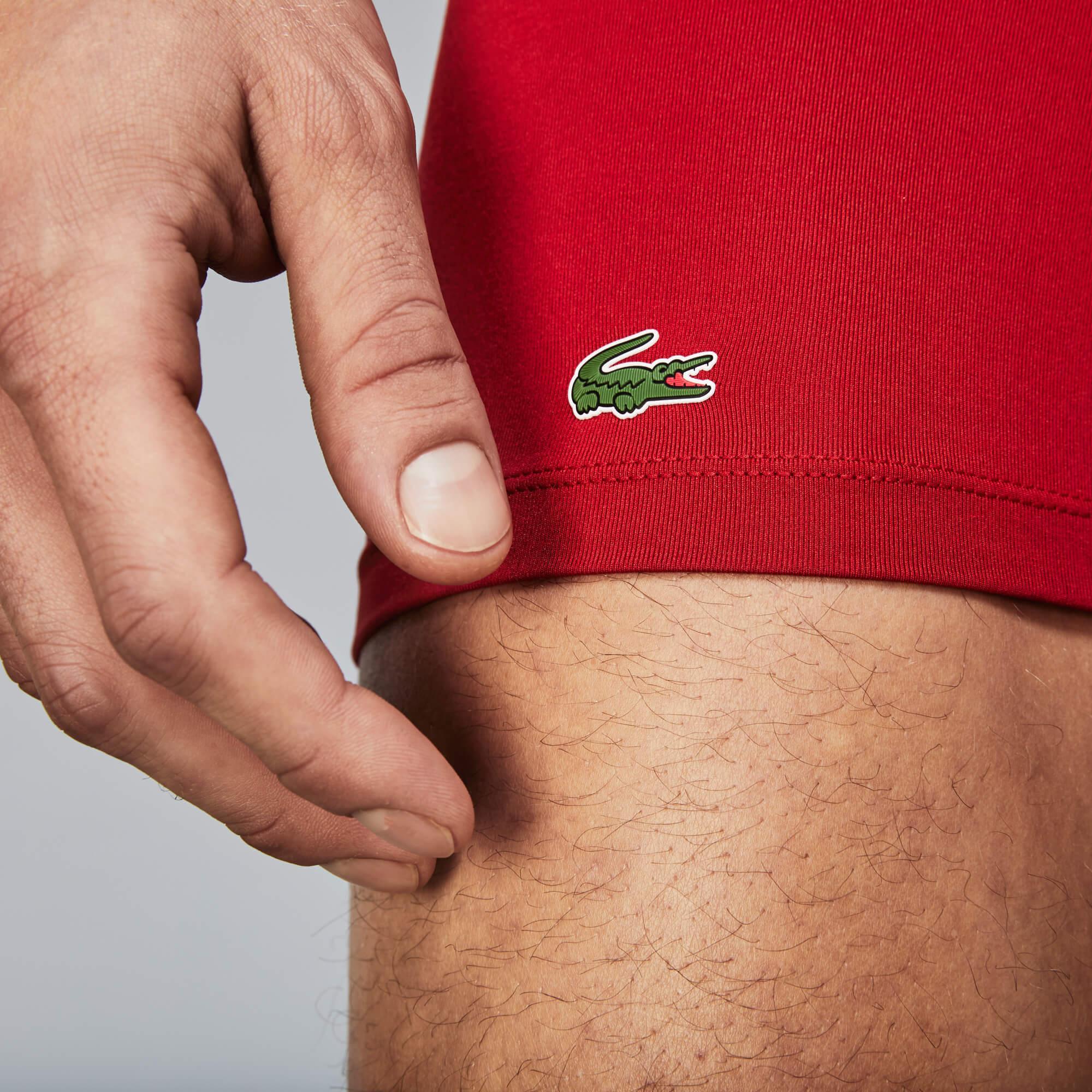 Lacoste Erkek Kırmızı- Lacivert - Beyaz 3'lü Boxer Seti