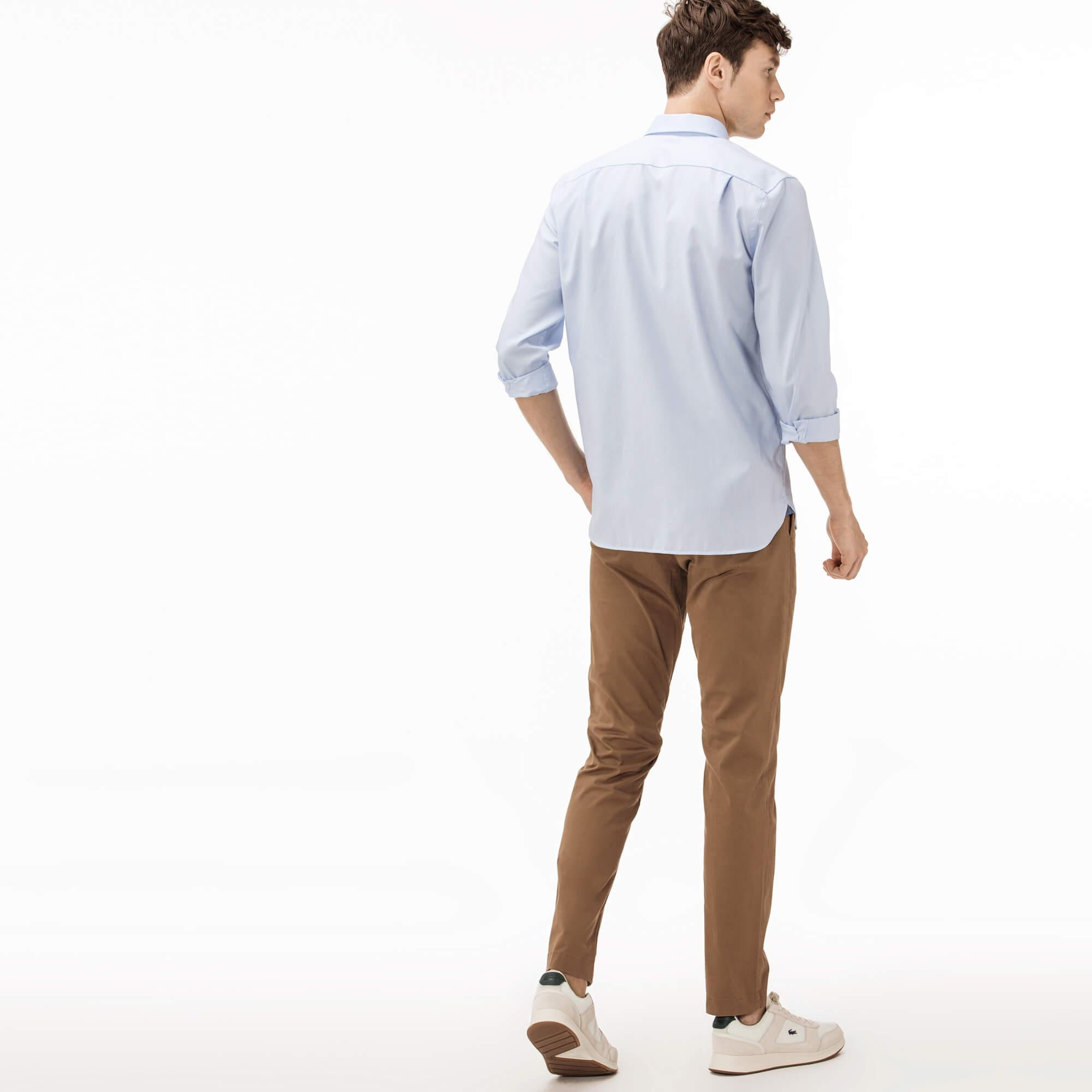 Lacoste Erkek Gabardin Kahverengi Pantolon