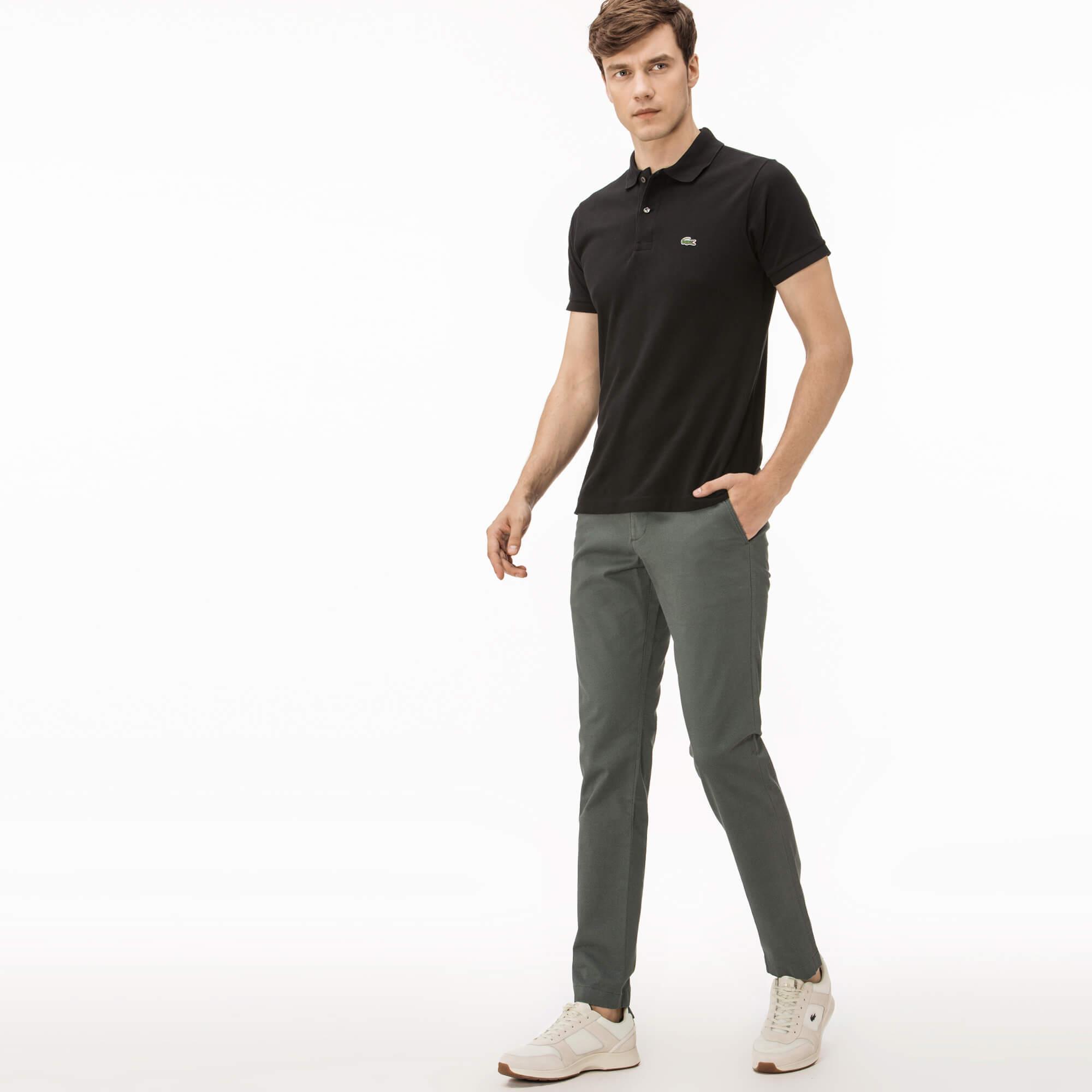 Lacoste Erkek Slim Fit Streç Pamuklu Gri Chino Pantolon