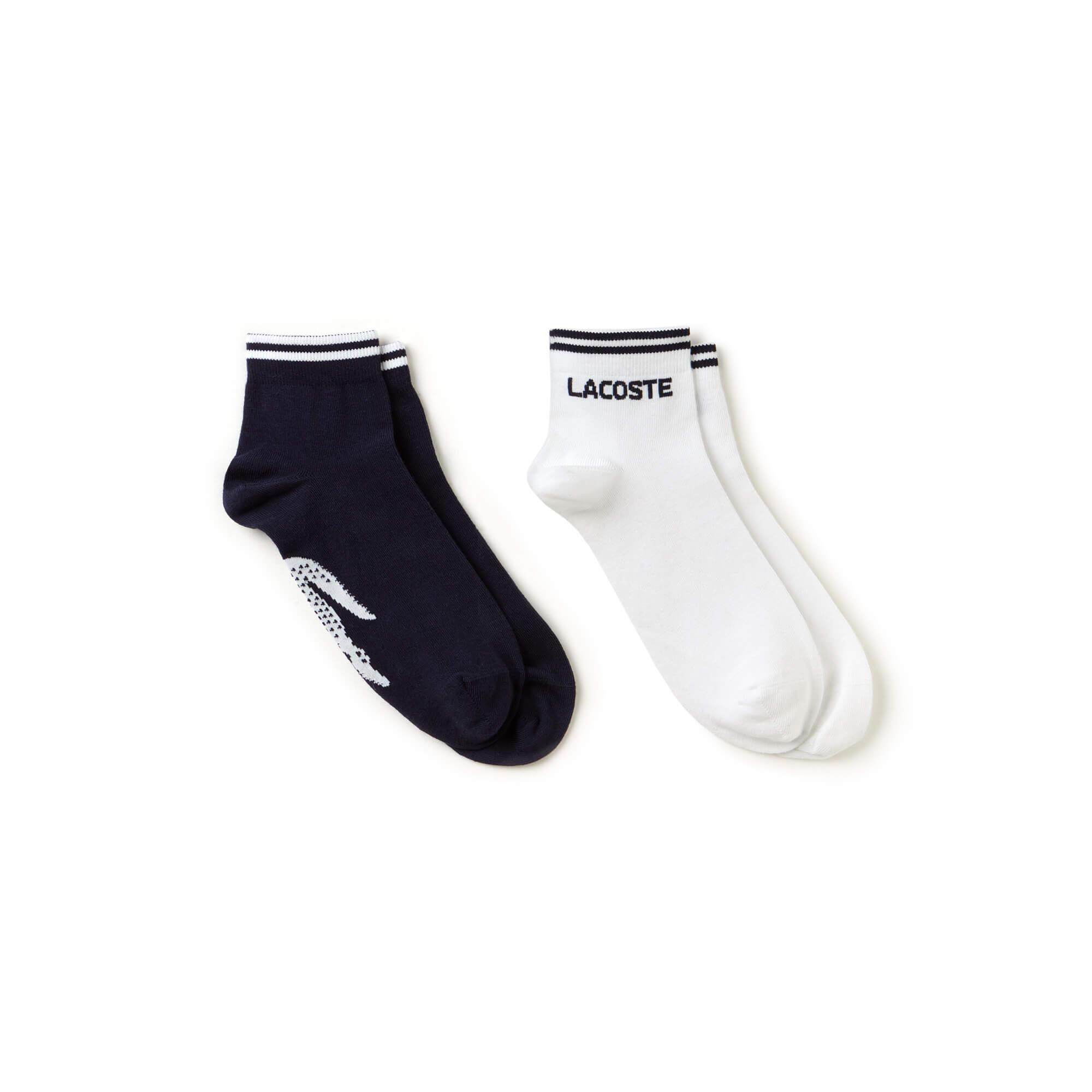 Lacoste Unisex Sport Lacivert-Beyaz 2'li Çorap