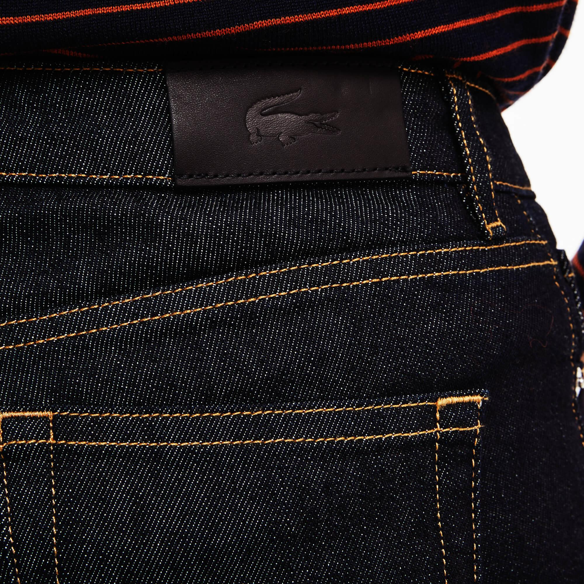 Lacoste Kadın Streç Pamuklu Lacivert Denim Pantolon
