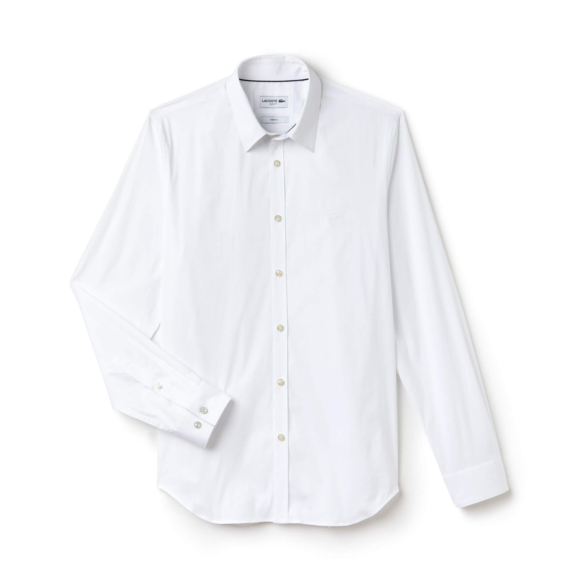 Lacoste Erkek Slim Fit Uzun Kollu Beyaz Gömlek