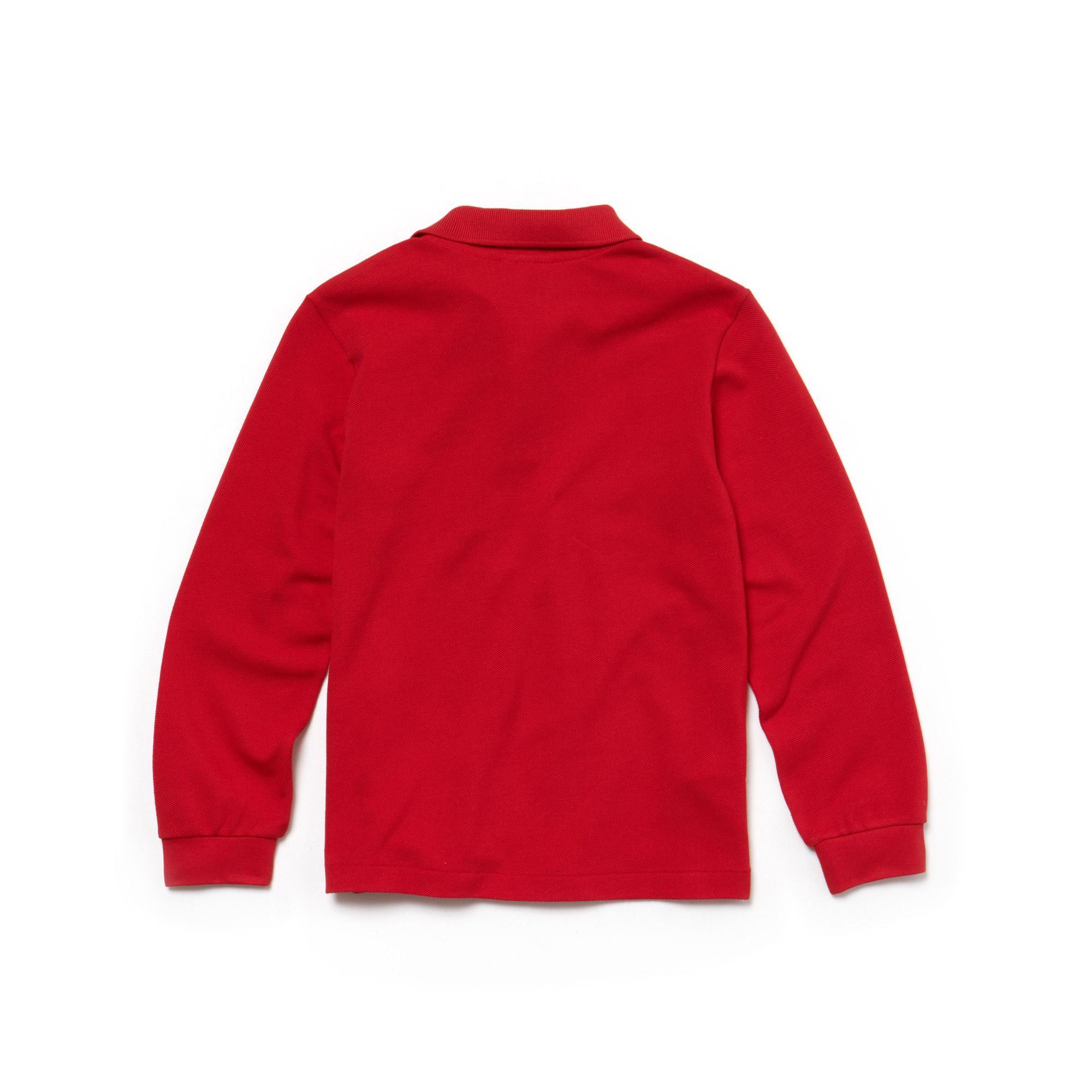 Lacoste Çocuk Uzun Kollu Kırmızı Polo