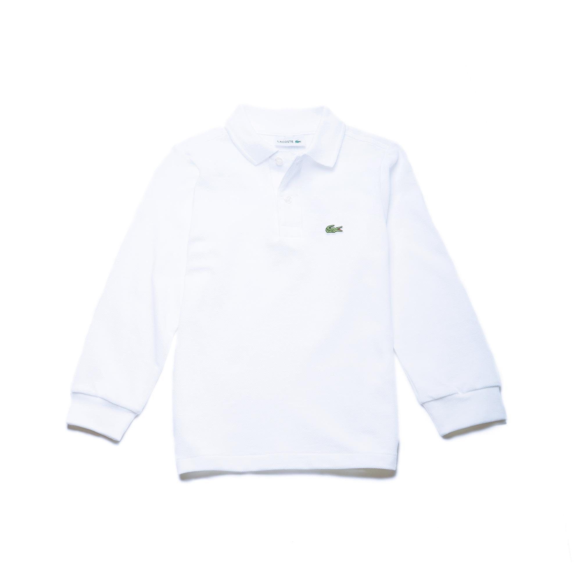 Lacoste Çocuk Uzun Kollu Beyaz Polo