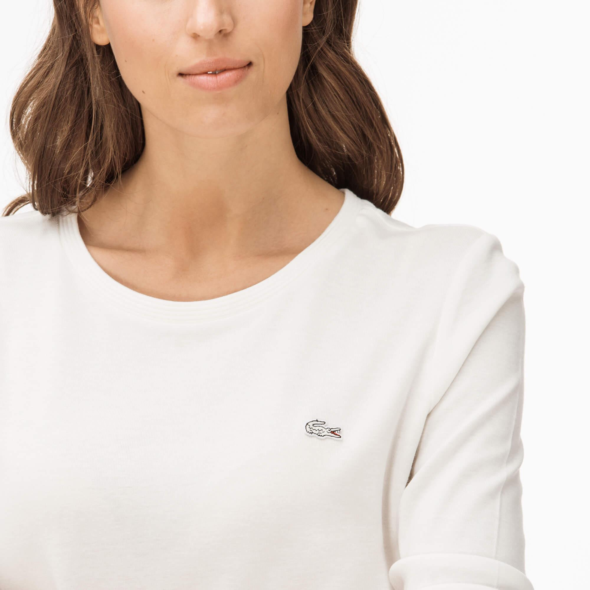 Lacoste Kadın Ekru Bluz