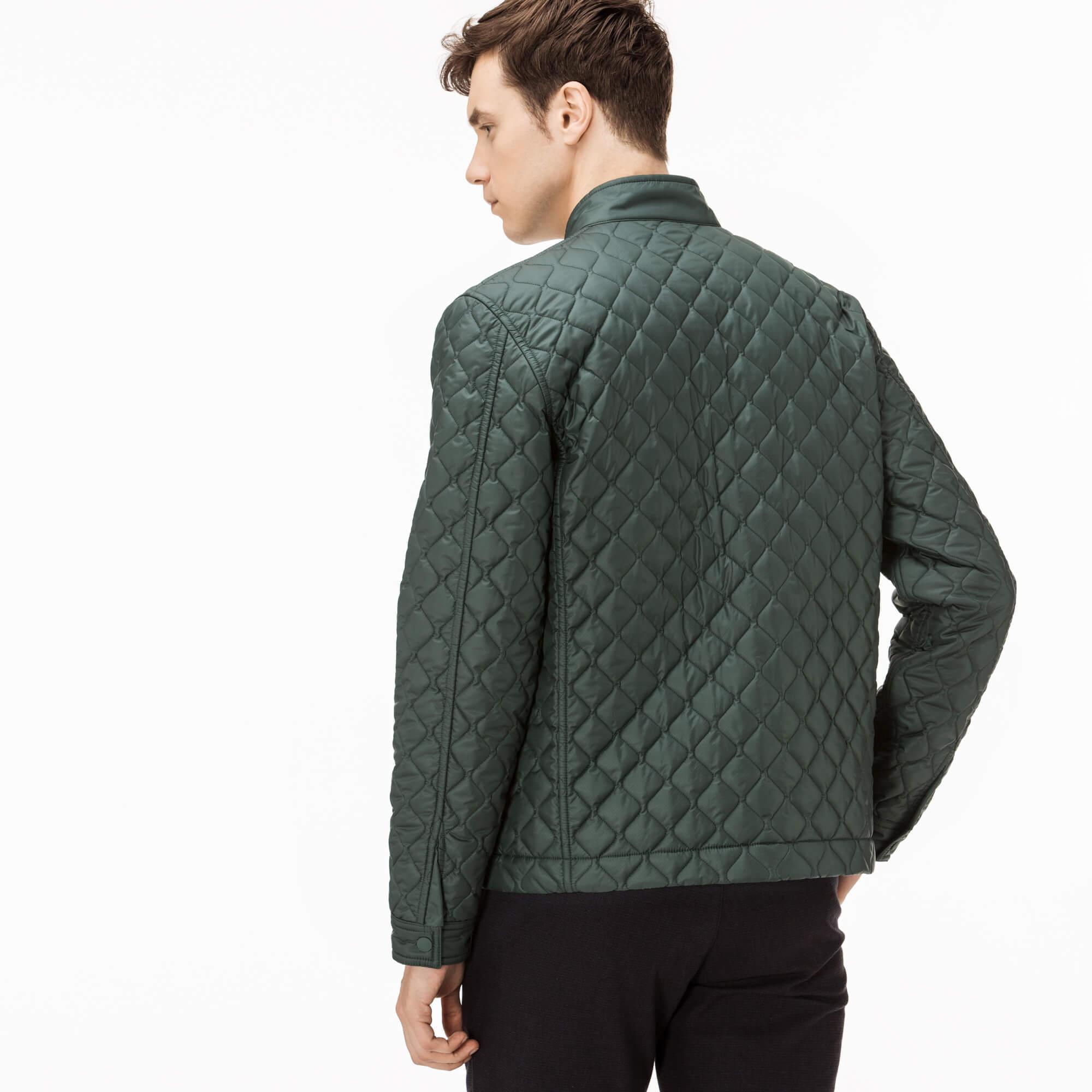 Lacoste Erkek Lacivert-Yeşil Çift Taraflı Mont