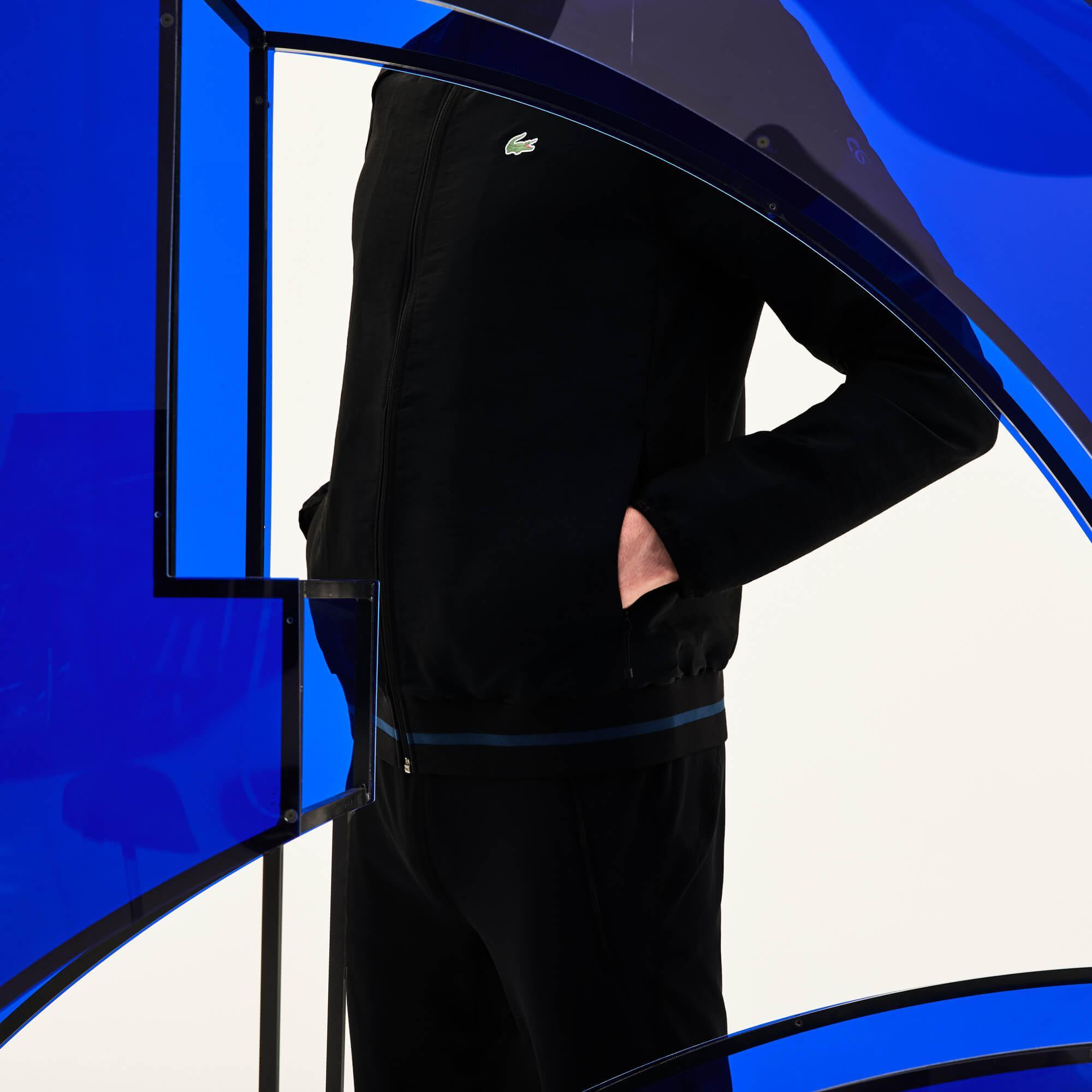 Lacoste Sport Erkek Mavi-Siyah Mont
