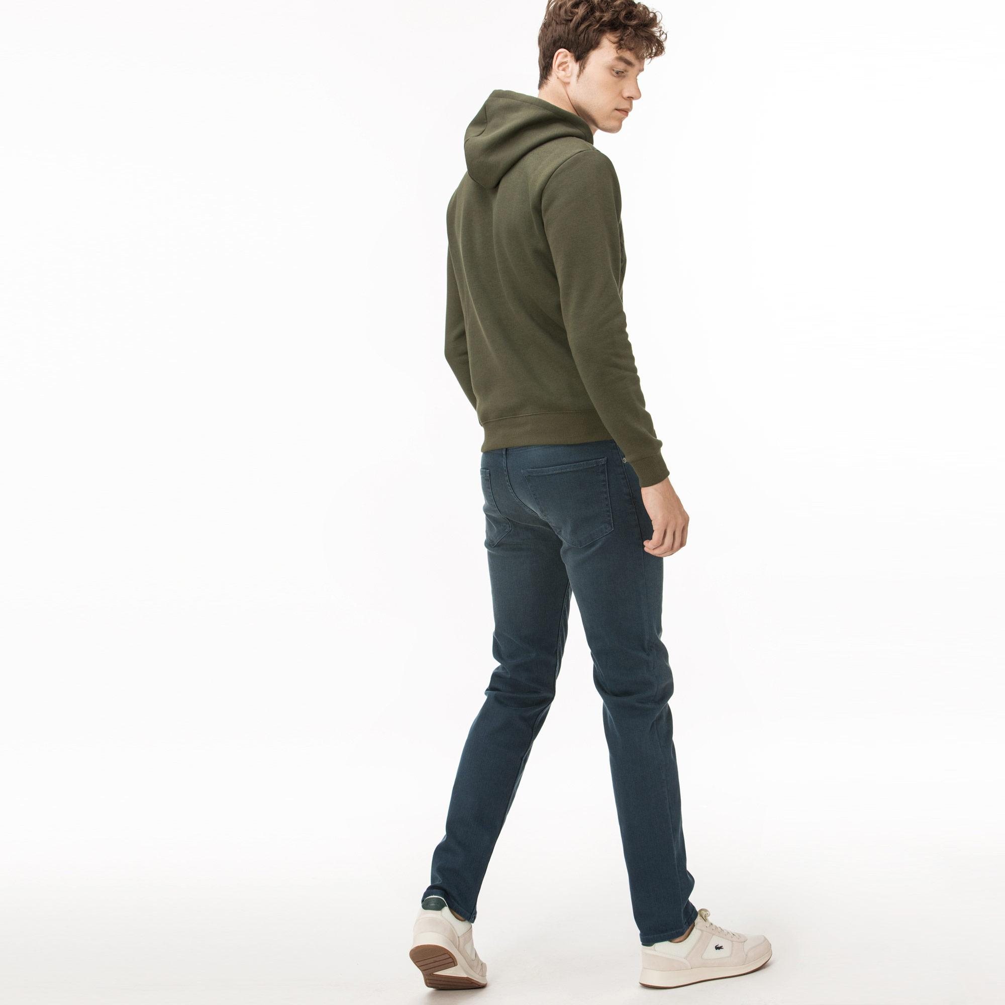 Lacoste Erkek Slim Fit Koton Antrasit Jean