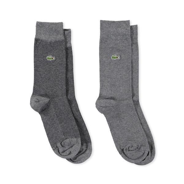 Lacoste Erkek 2'li Gri Çorap
