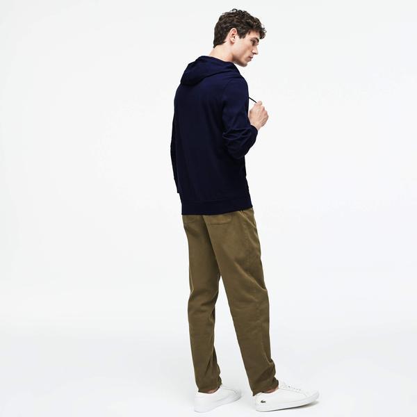 Lacoste Erkek Lacivert Kapüşonlu Uzun Kollu T-Shirt