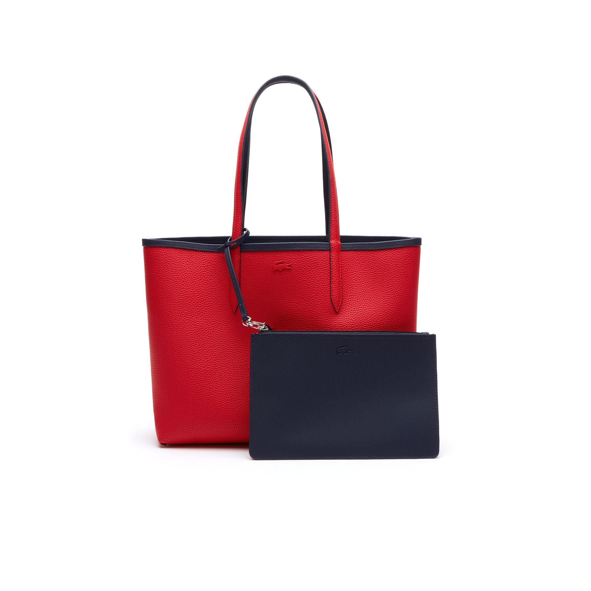 Lacoste Kadın Lacivert-Kırmızı Çanta