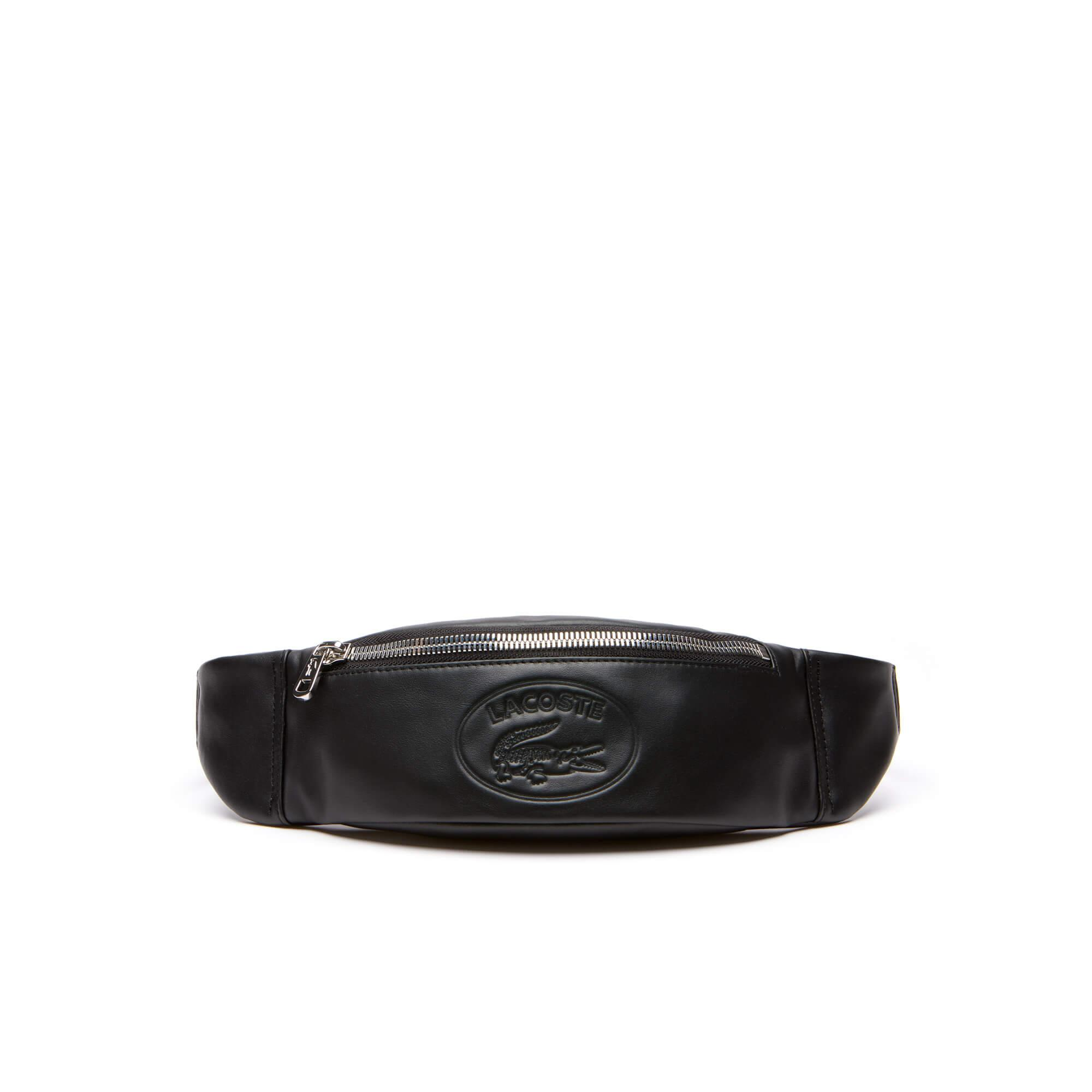 Lacoste Erkek L.12.12 Cuır Casual Siyah Bel Çantası