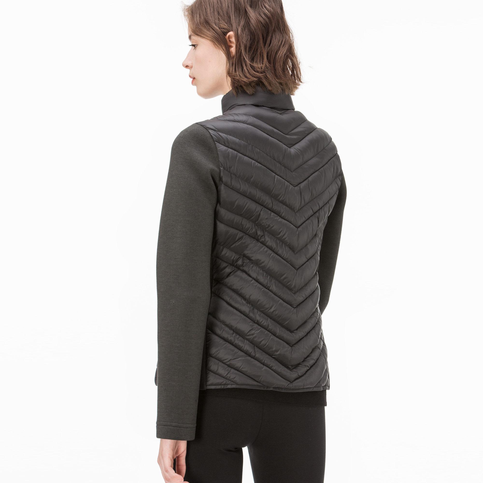 Lacoste Kadın Siyah Kapitone Detaylı Fermuarlı Polar Sweatshirt