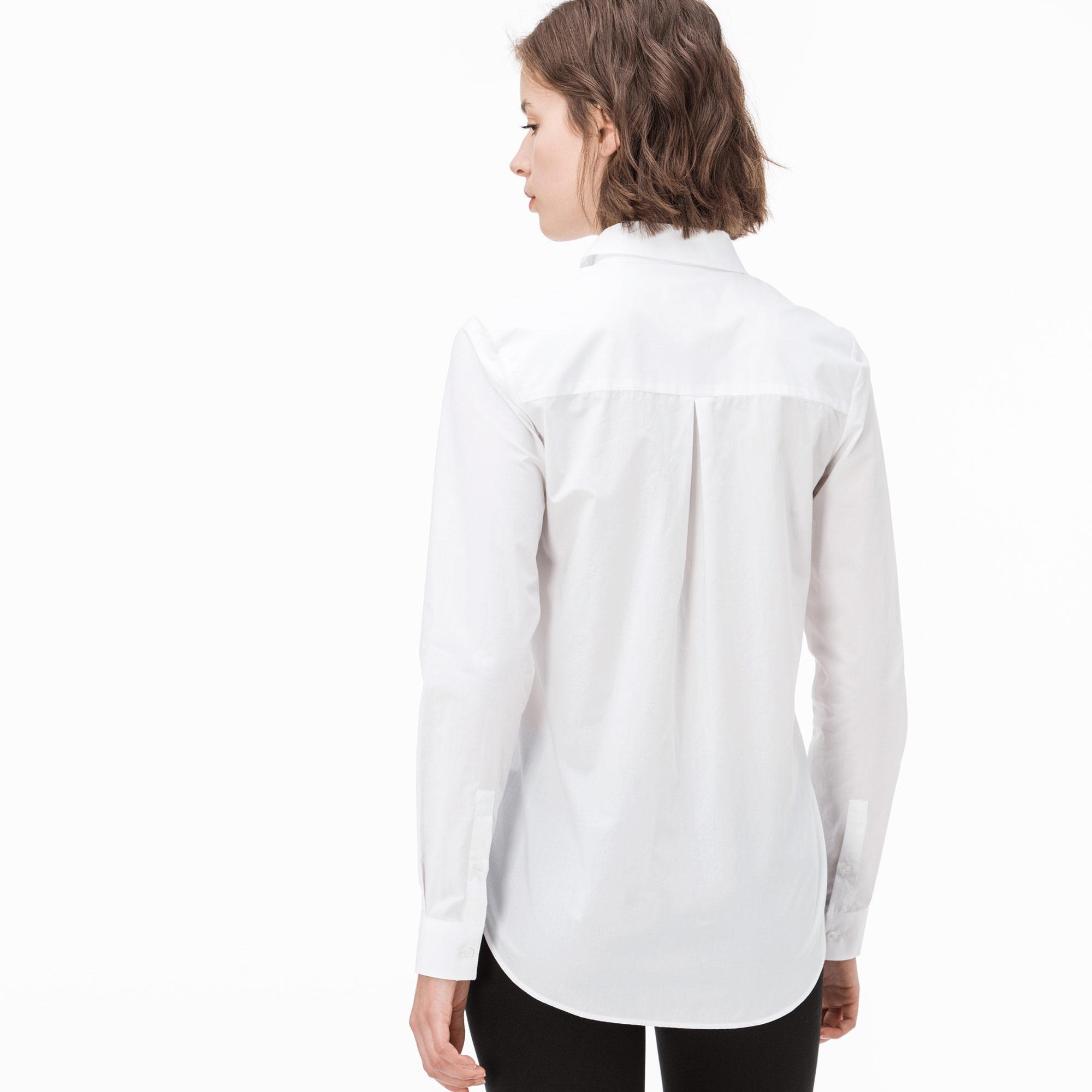 Lacoste Kadın Beyaz Gömlek
