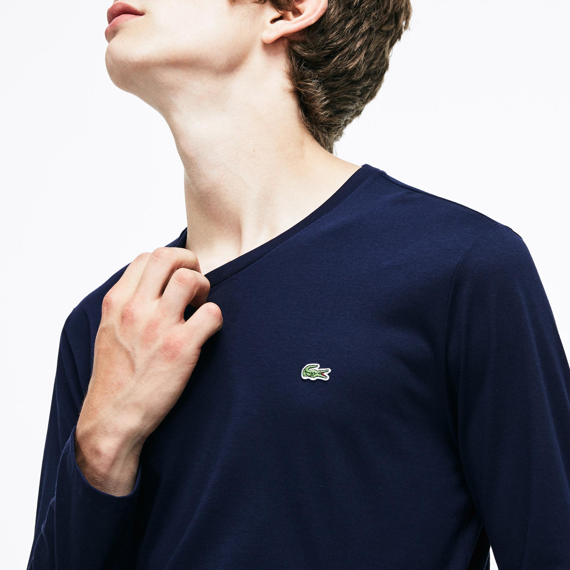 Lacoste Erkek Regular Fit Lacivert Uzun Kollu T-Shirt