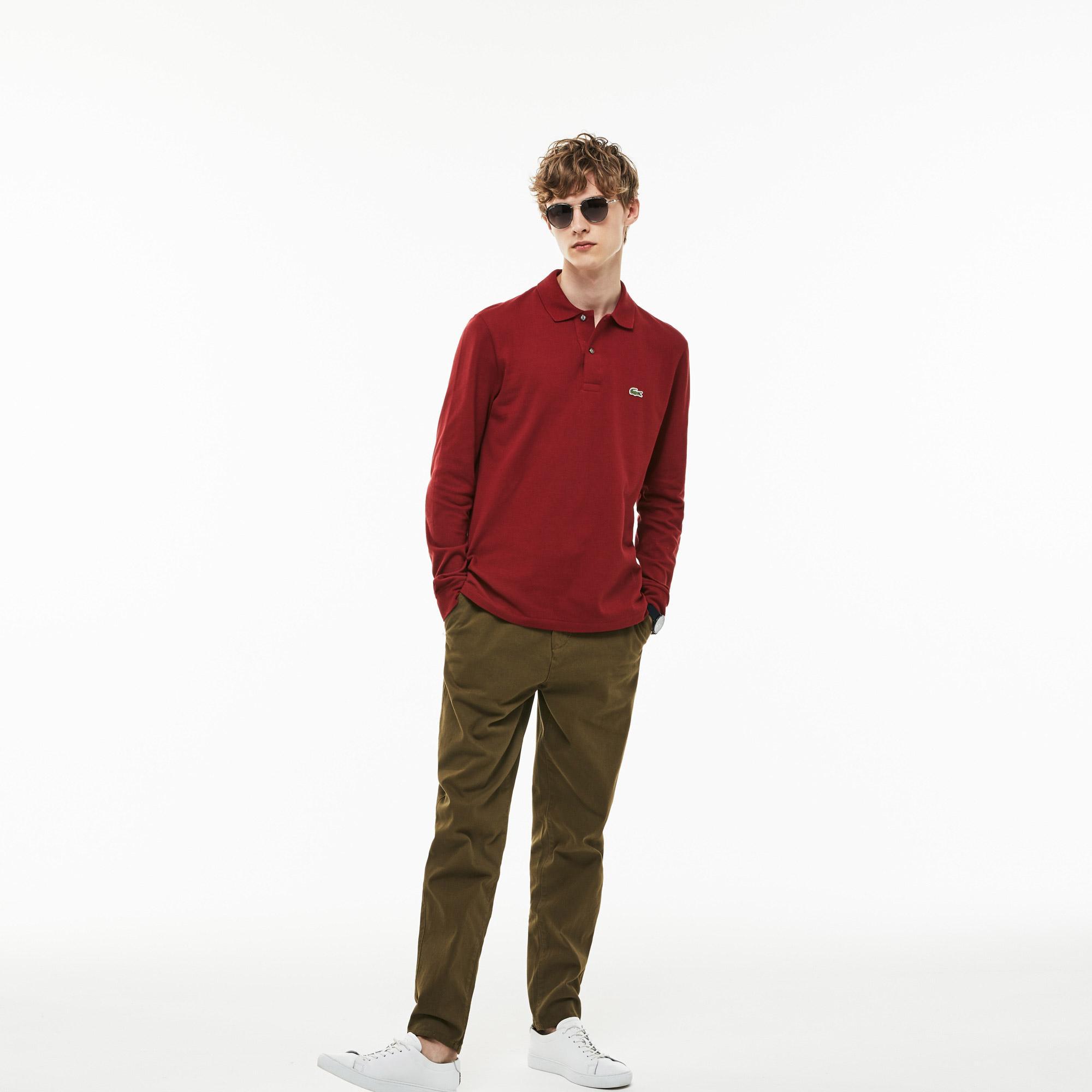 Lacoste Erkek L1312 Koyu Kırmızı Polo