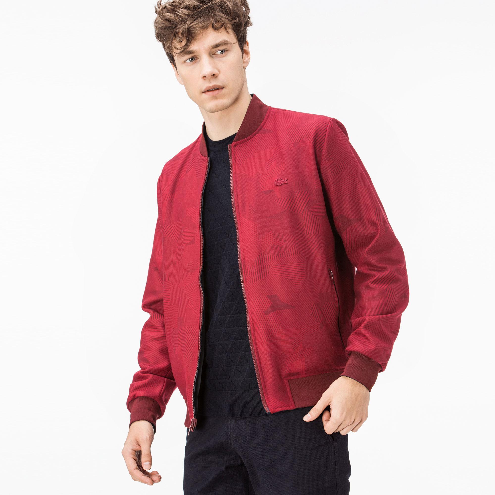 Lacoste Erkek Kırmızı-Lacivert Çift Taraflı Mont