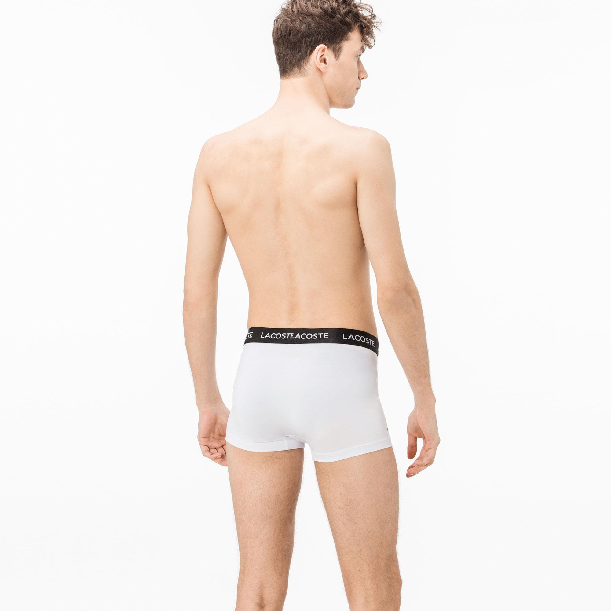 Lacoste Erkek Beyaz-Gri-Siyah Boxer