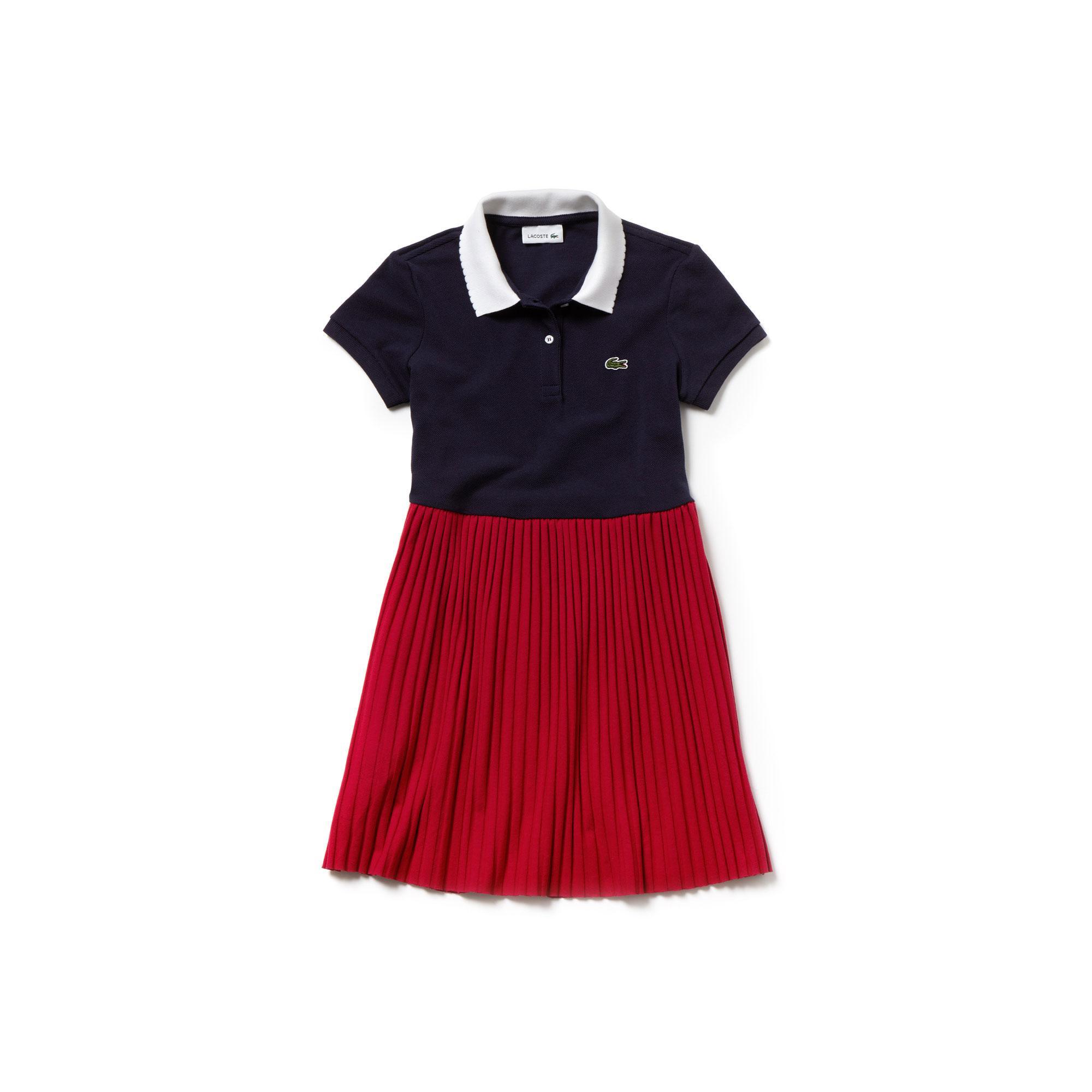 Lacoste Çocuk Lacivert-Pembe Elbise