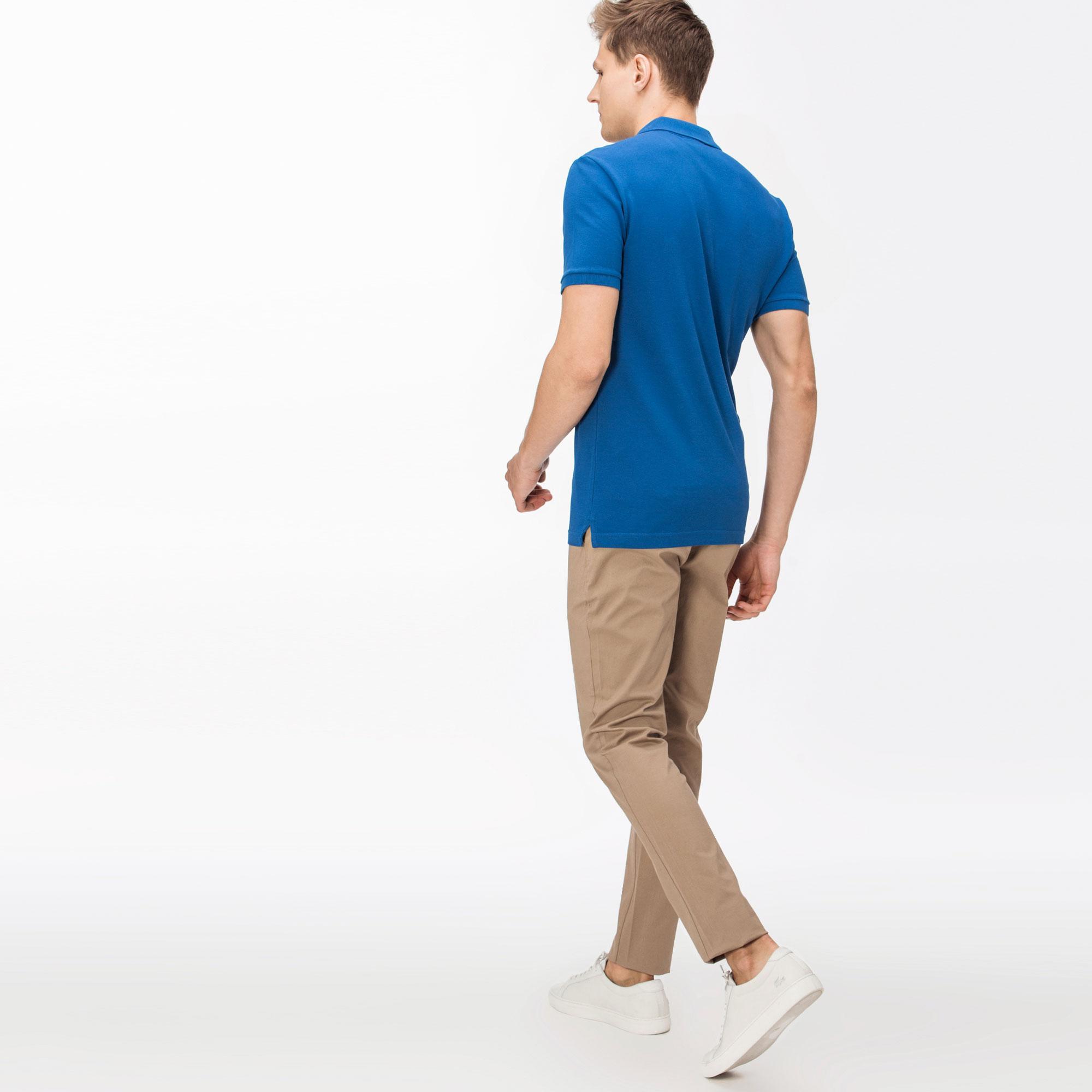 Lacoste Erkek Slim Fit Streç Gabardin Kahverengi Chino Pantolon
