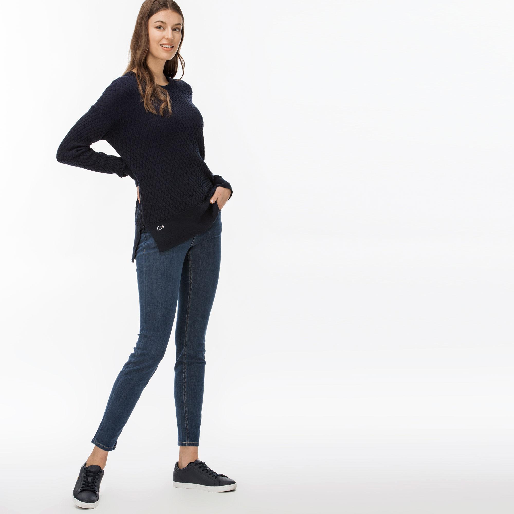 Lacoste Kadın Lacivert Sweatshirt