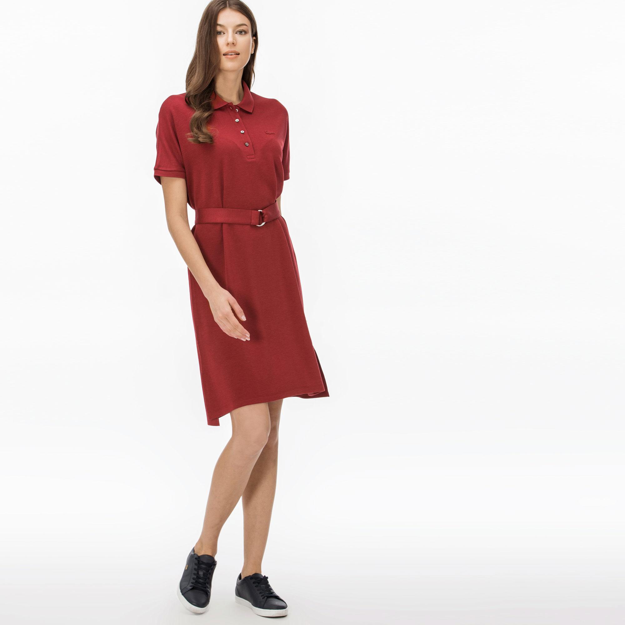 Lacoste Kadın Koyu Kırmızı Elbise