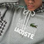 Lacoste Fashion Show Erkek Gri Kapüşonlu Sweatshirt