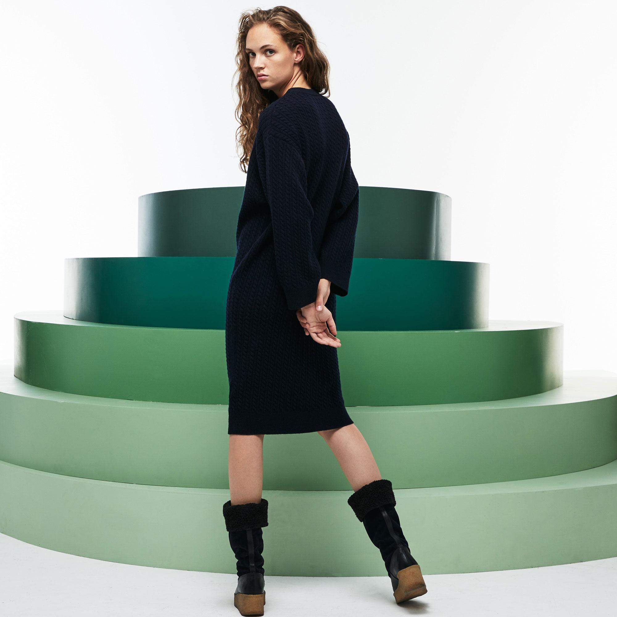 Lacoste Kadın Fashion Show Lacivert Elbise