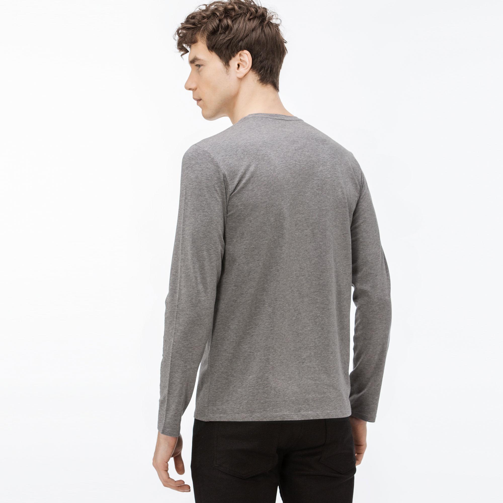 Lacoste Erkek Uzun Kollu Gri T-Shirt