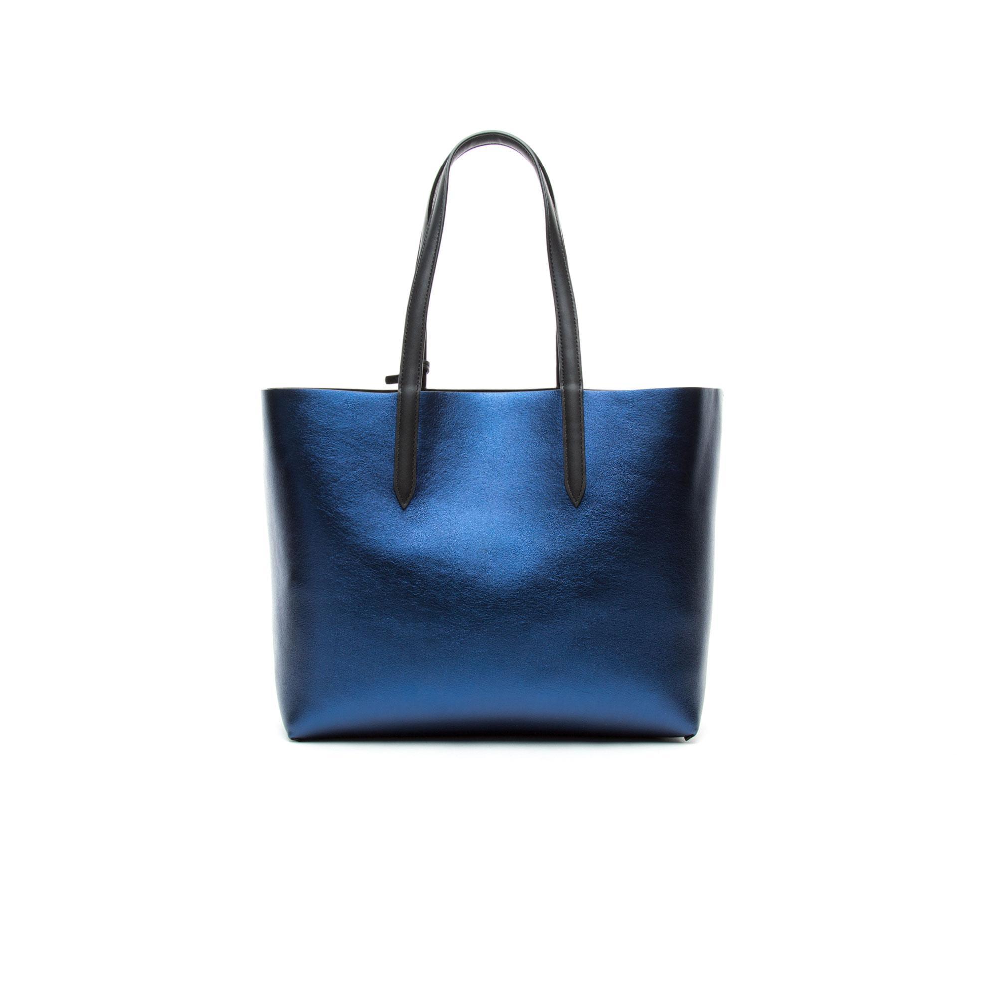 Lacoste Kadın Mavi - Siyah Çift Taraflı Çanta