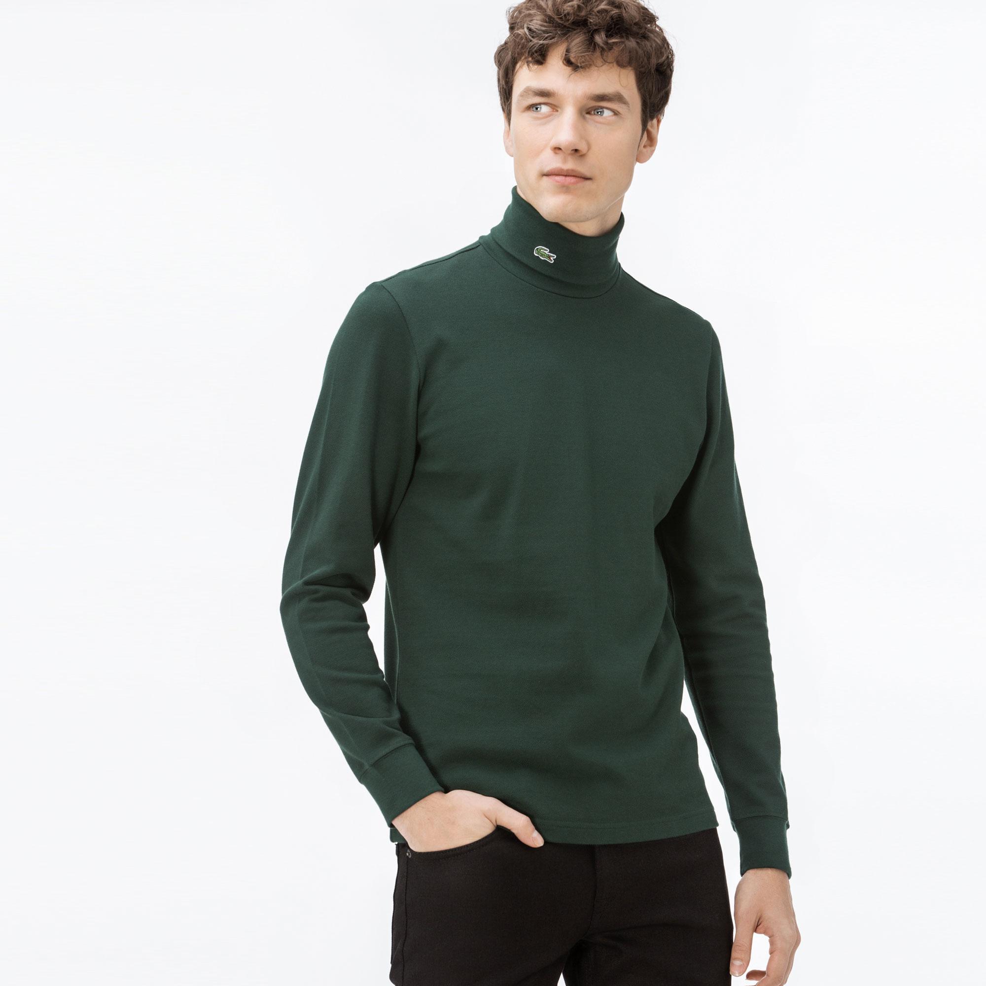 Lacoste Erkek Yeşil Uzun Kollu Boğazlı T-Shirt