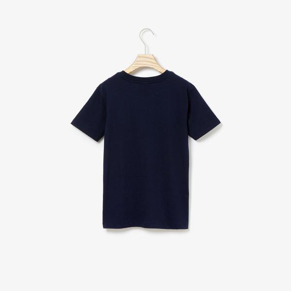 Lacoste Çocuk Timsah Baskılı Lacivert T-Shirt