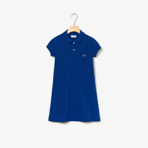 Lacoste Çocuk Polo Yaka Lacivert Elbise