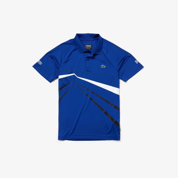 Lacoste Sport Novak Djokovic Erkek Mavi Polo