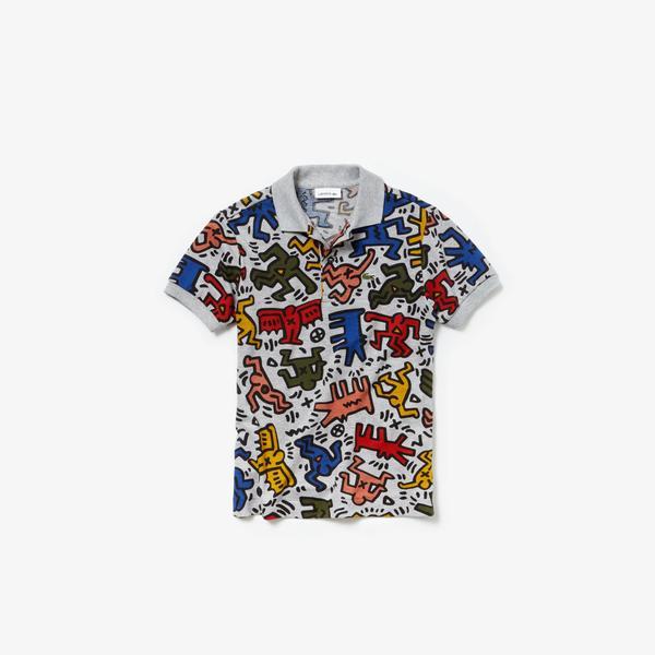 Lacoste X Keith Haring Çocuk Renkli Polo