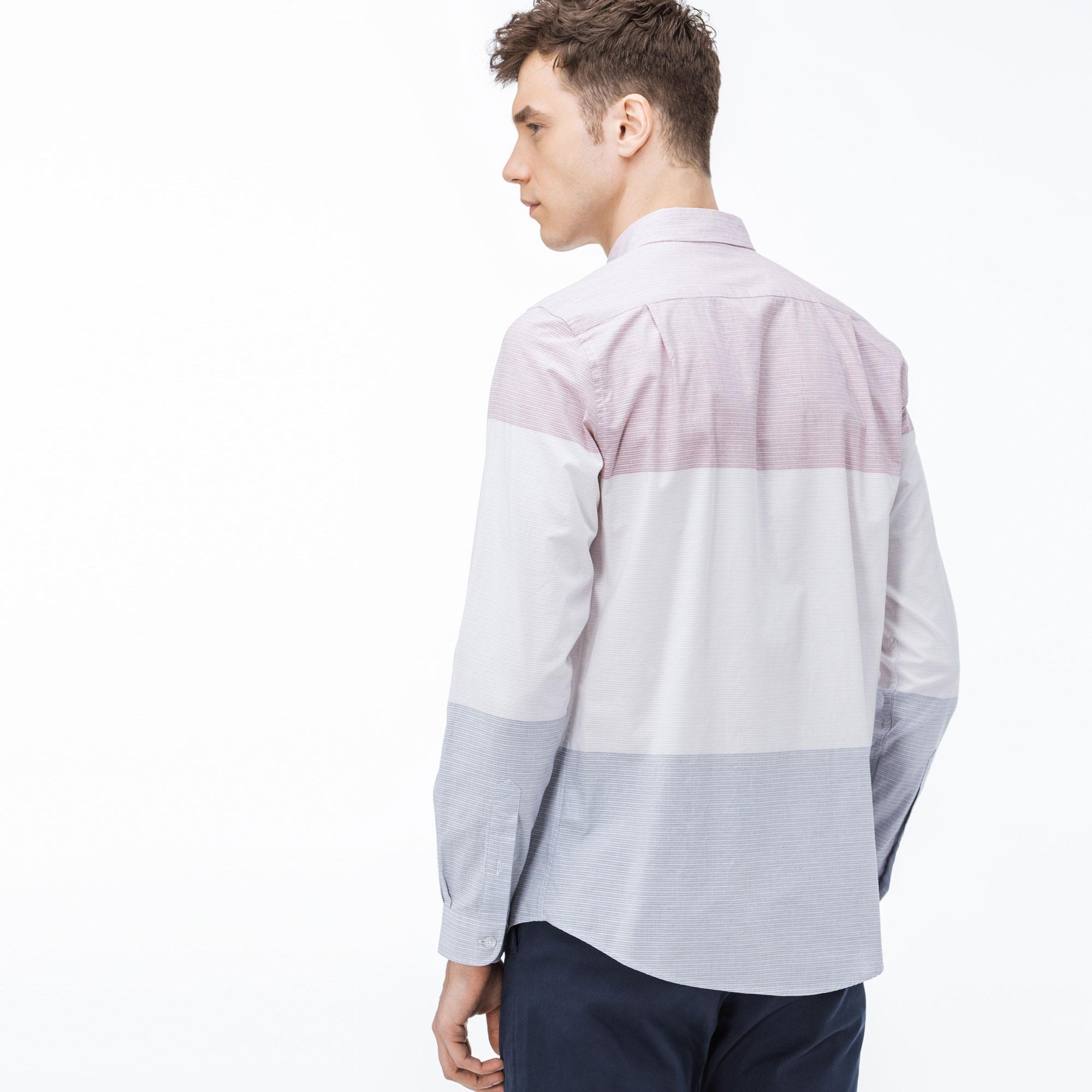 Lacoste Erkek Slim Fit Blok Desenli Renkli Gömlek