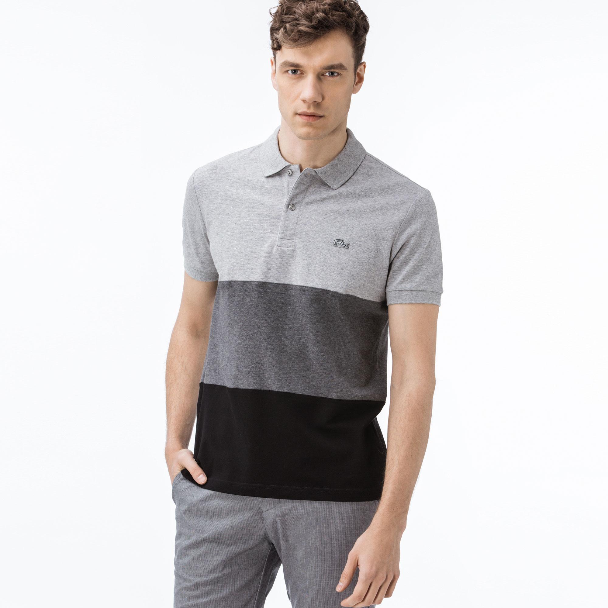 Lacoste Erkek Regular Fit Blok Desenli Renkli Polo