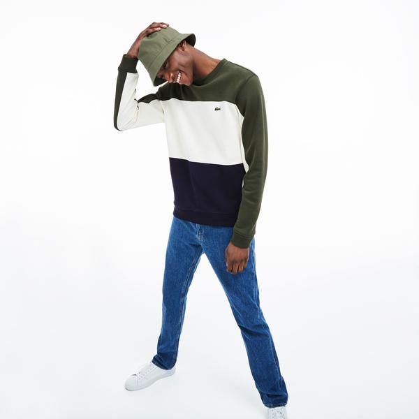 Lacoste Erkek Blok Desenli Renkli Sweatshirt