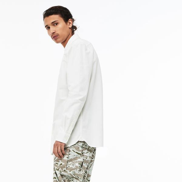 Lacoste L!ve Erkek Skinny Fit Beyaz Gömlek