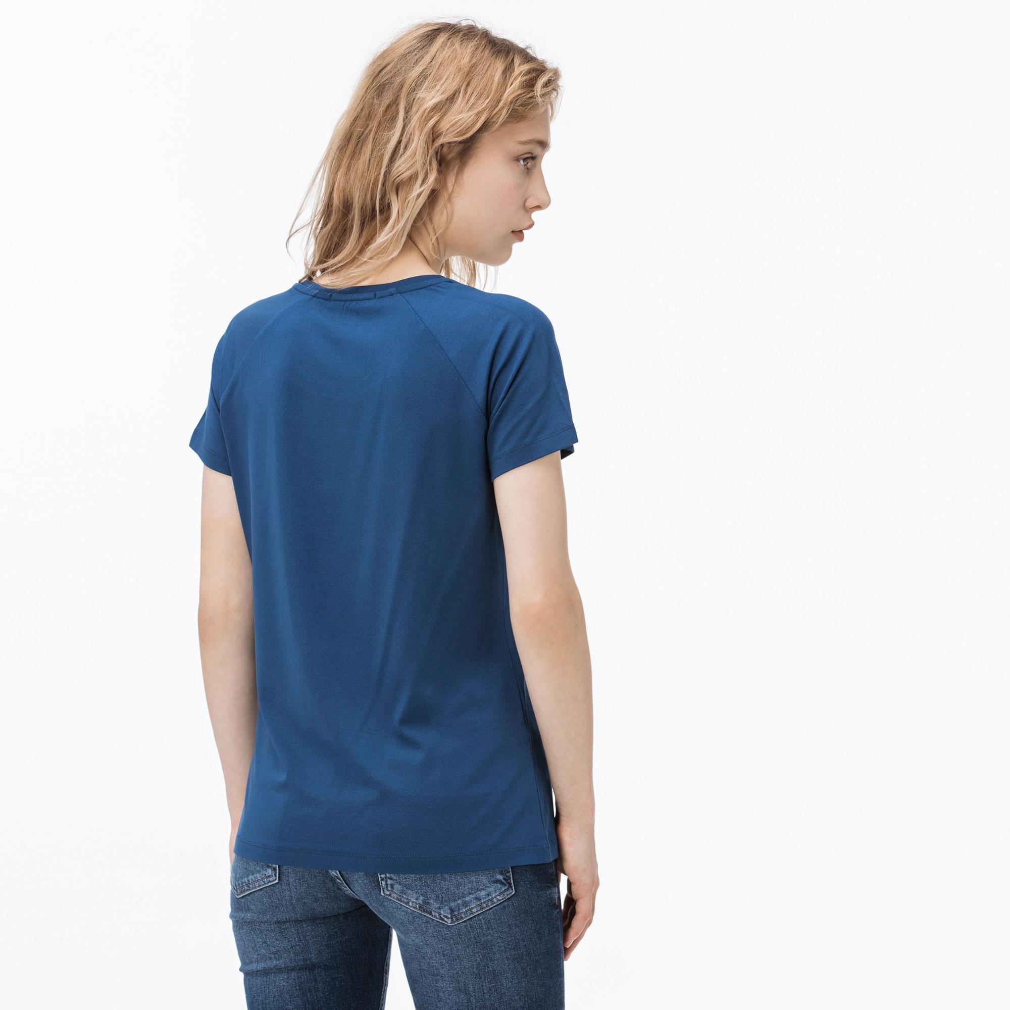 Lacoste Kadın Mavi T-Shirt