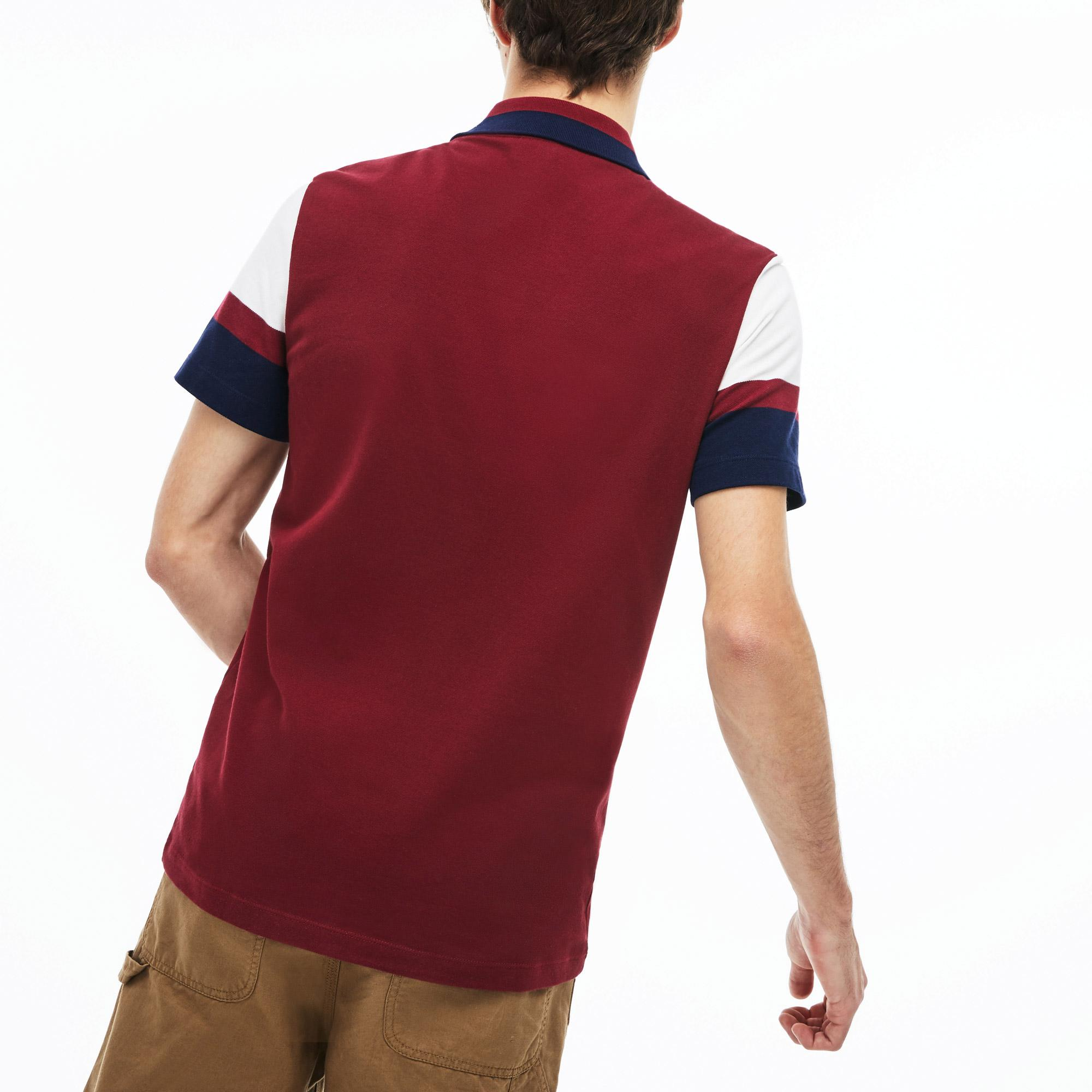 Lacoste Erkek Slim Fit Bordo Polo