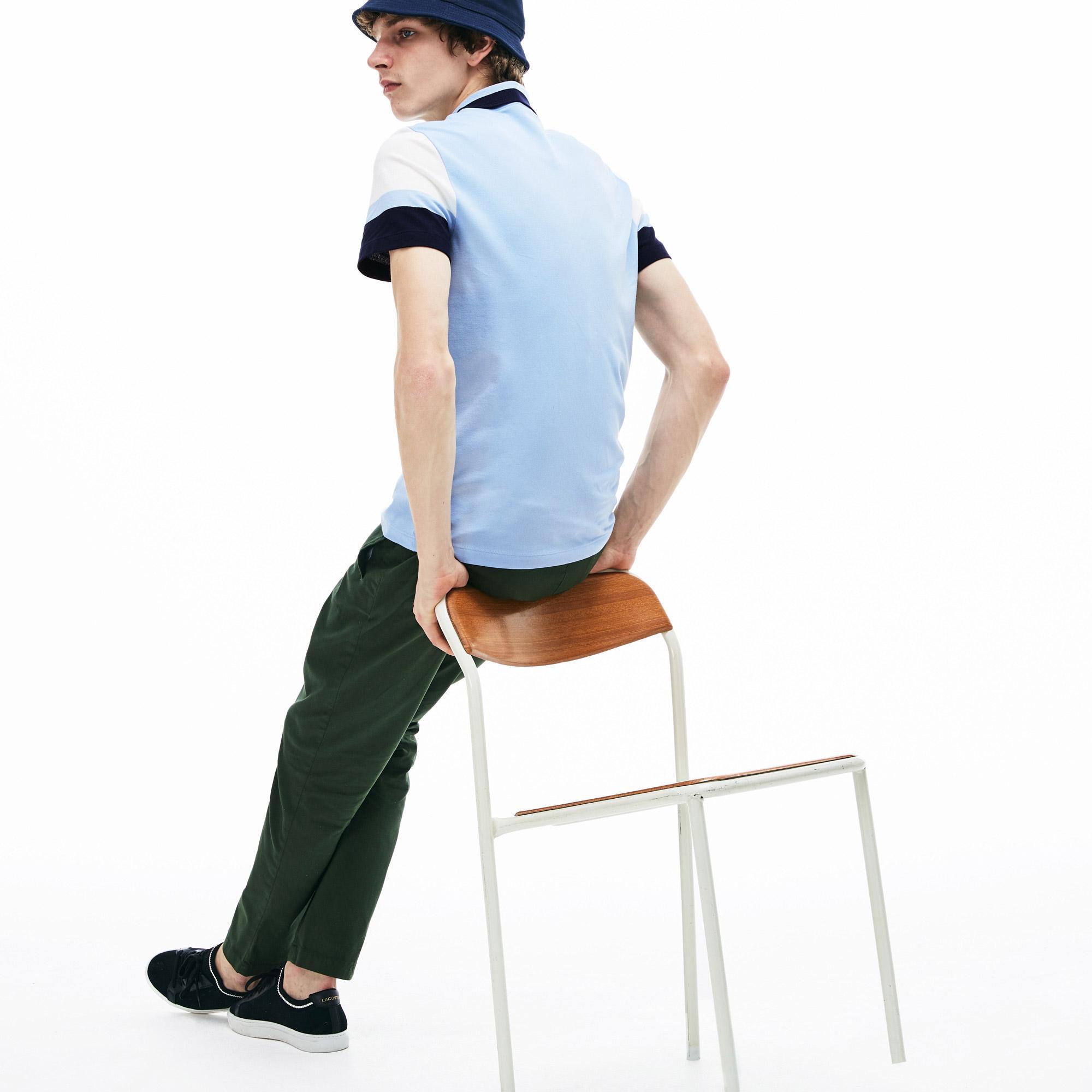 Lacoste Erkek Slim Fit Mavi Polo