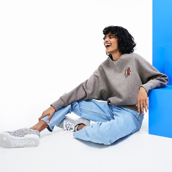 Lacoste X Keith Haring Kadın Gri Sweatshirt